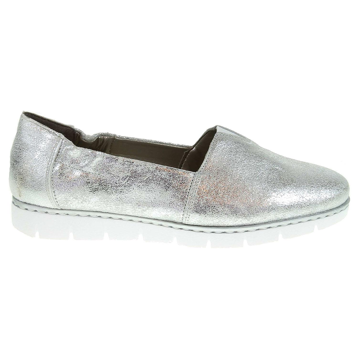 Ecco Rieker dámské mokasiny M1371-90 stříbrné 23000788 b50e53646b