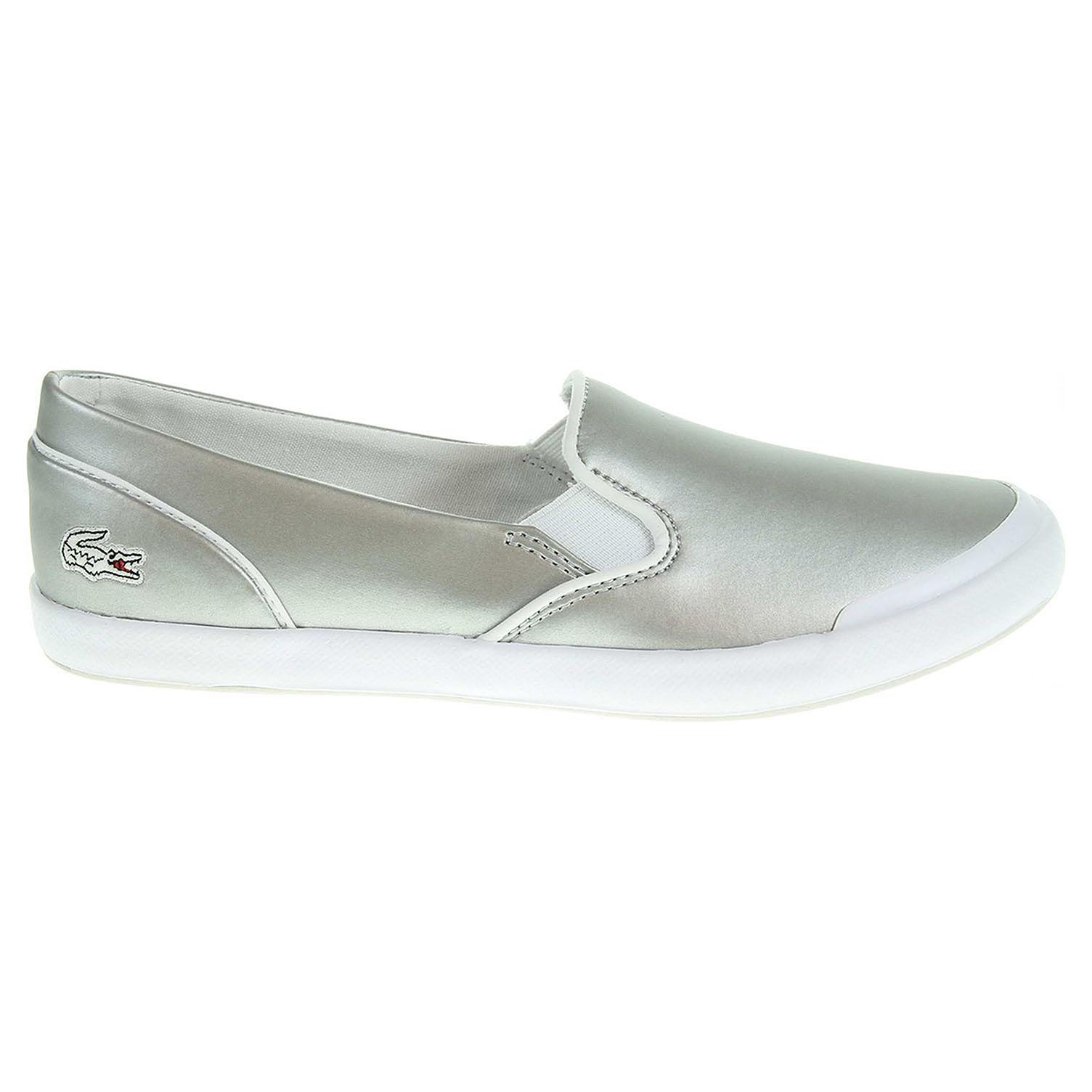 Ecco Lacoste Lancelle Slip-On dámská obuv stříbrná 23000815 3423f955947