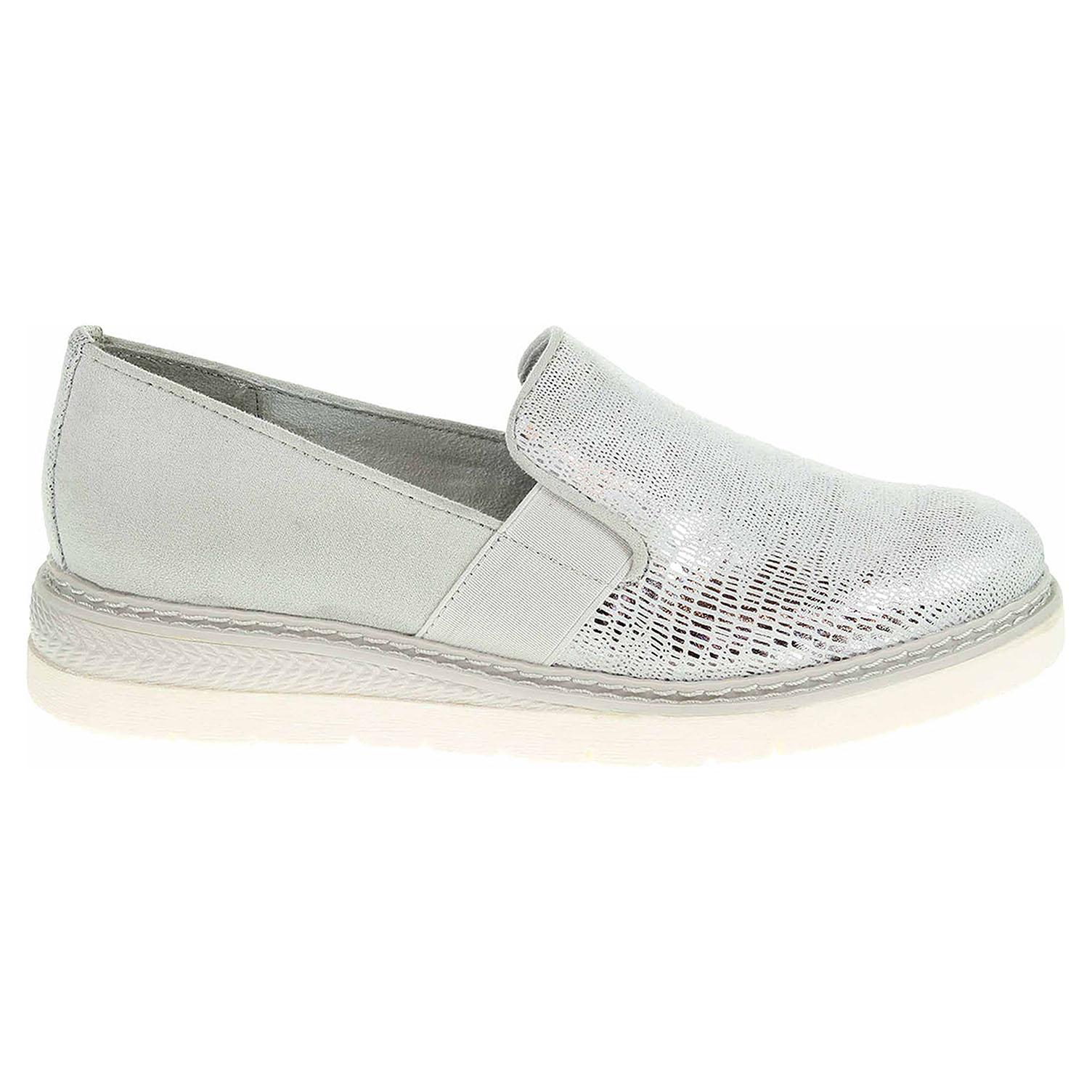 Ecco Jana dámské mokasiny 8-24619-20 white-silver 23000859