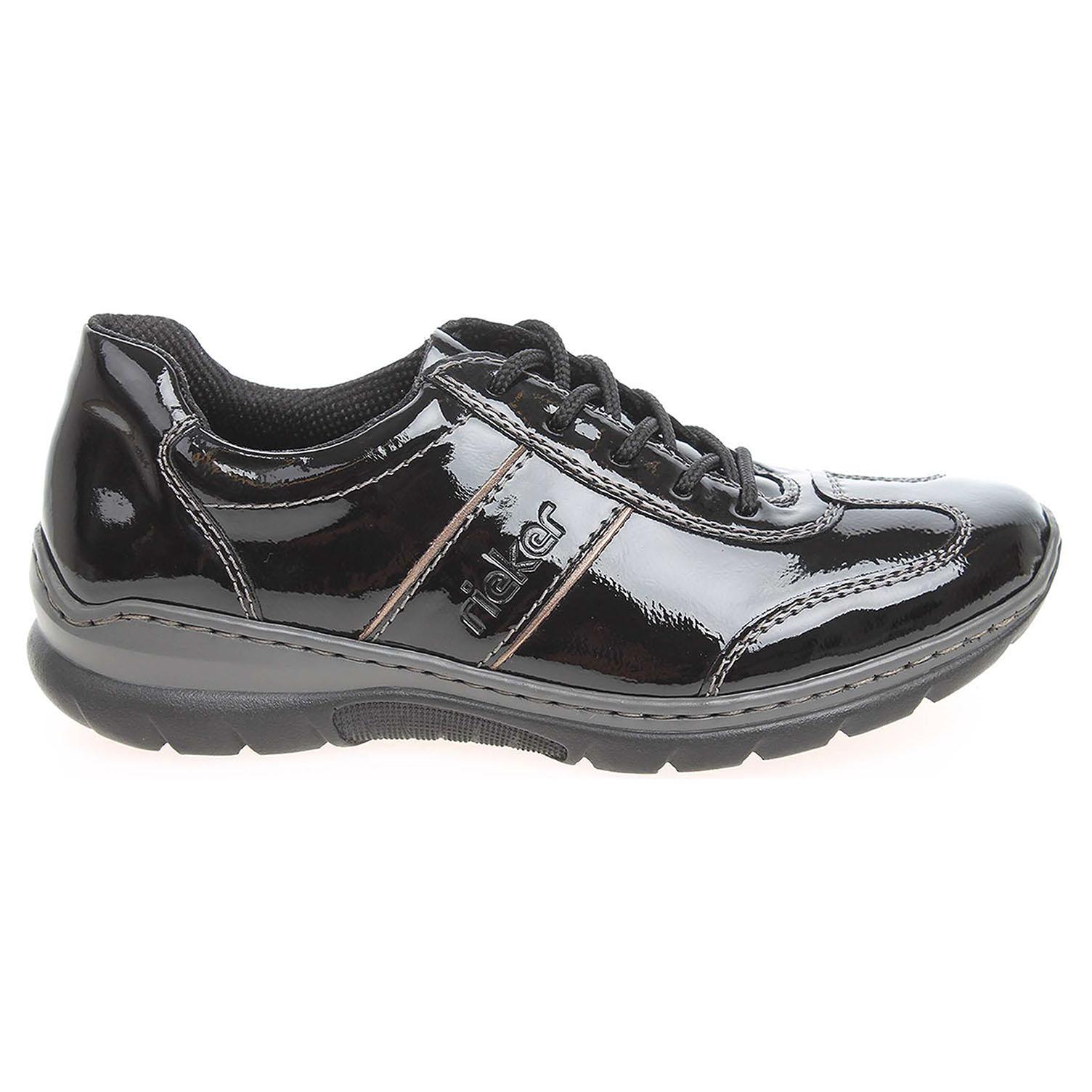 Ecco Rieker dámské polobotky L3224-00 černé 23100514