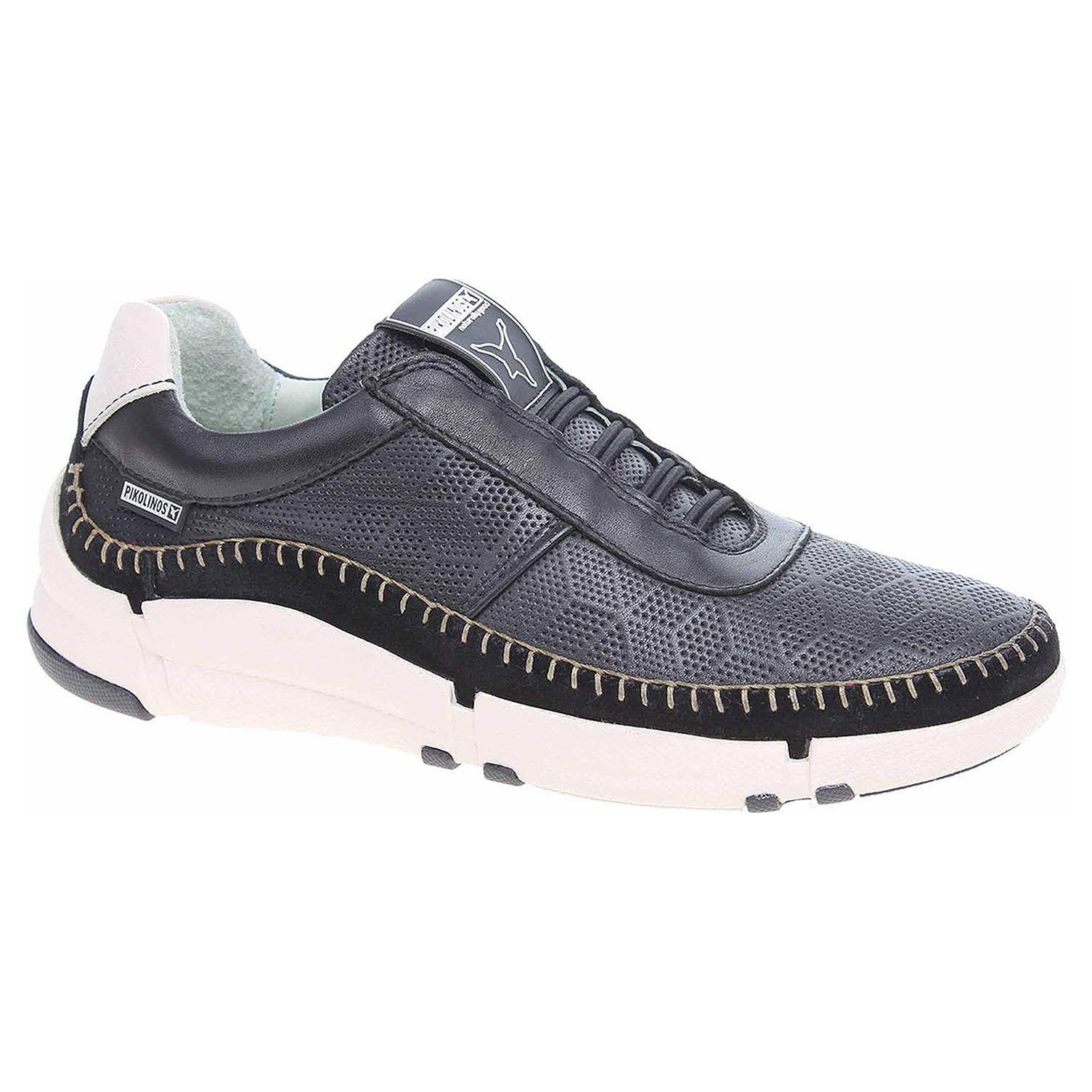 W4M-6715 black módní dámské polobotky, gumičky, nazouvací Pikolinos