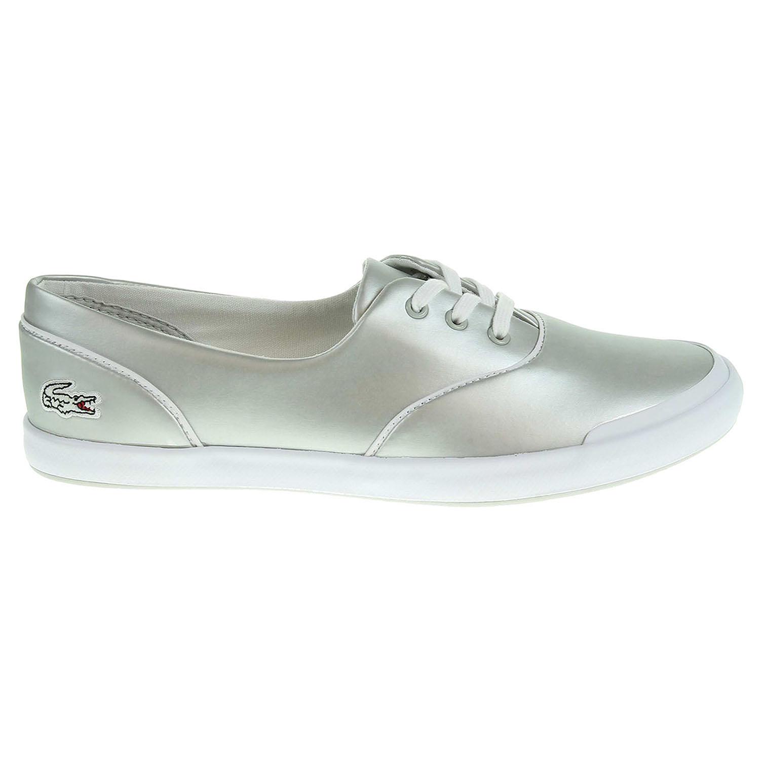 Ecco Lacoste Lancelle 3 Eye dámská obuv stříbrná 23200700 befc39ff28