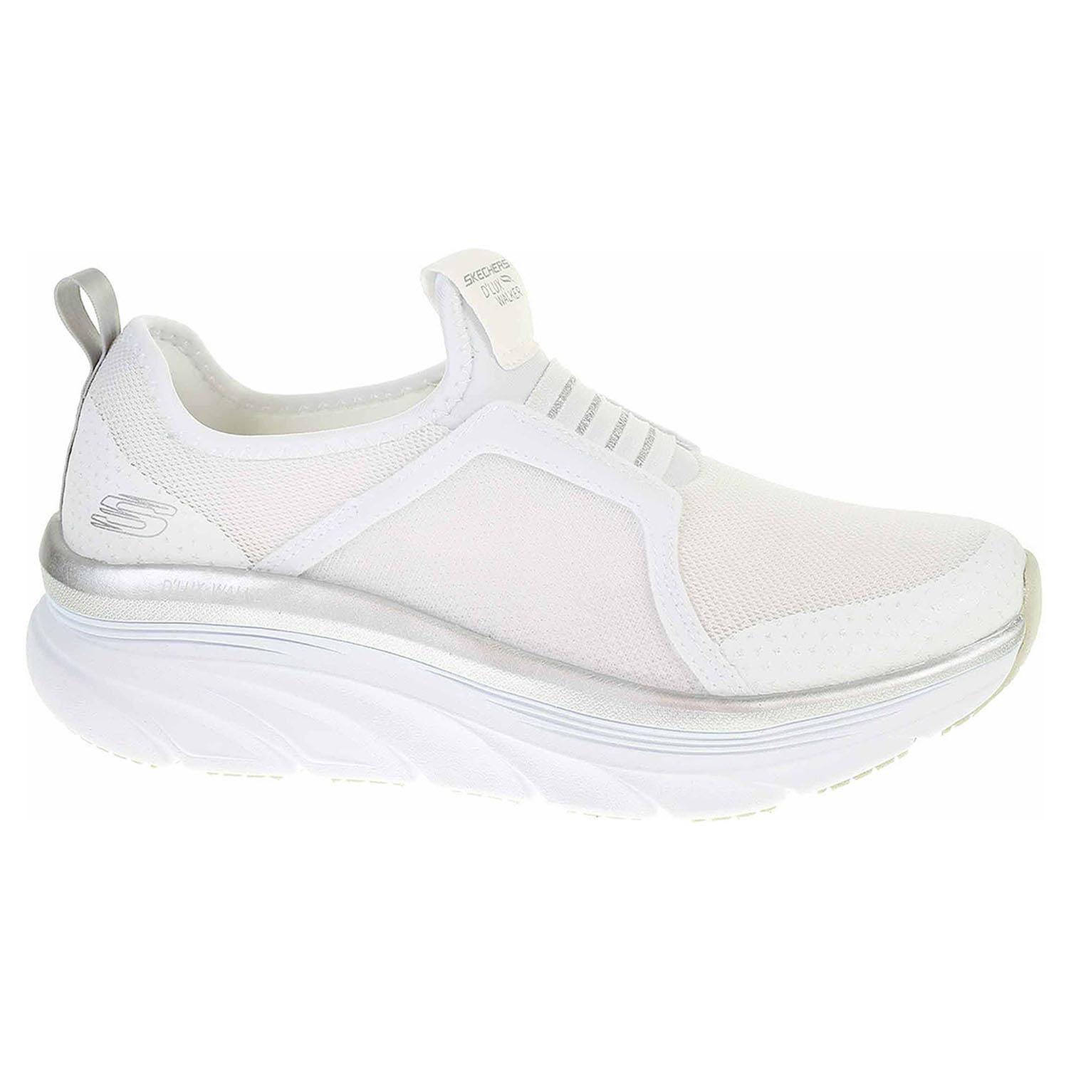 Ecco Skechers D´Lux Walker - Pillow Heaven white-silver 23201144
