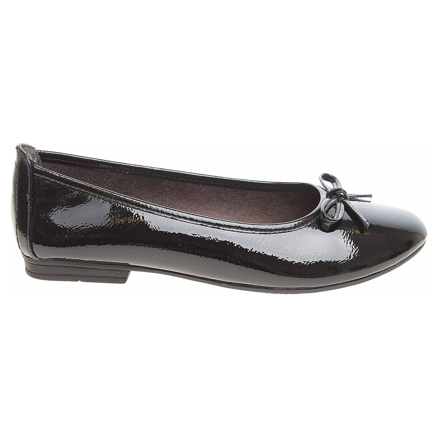 Ecco Jana dámské baleriny 8-22163-21 black patent 23300929