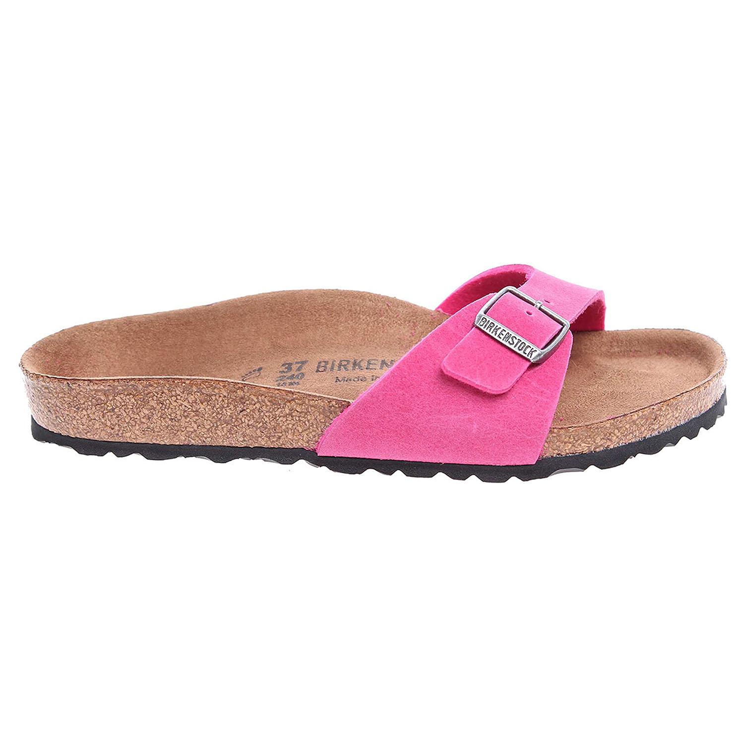 Ecco Birkenstock Madrid dámské pantofle 438101 růžové 23400300