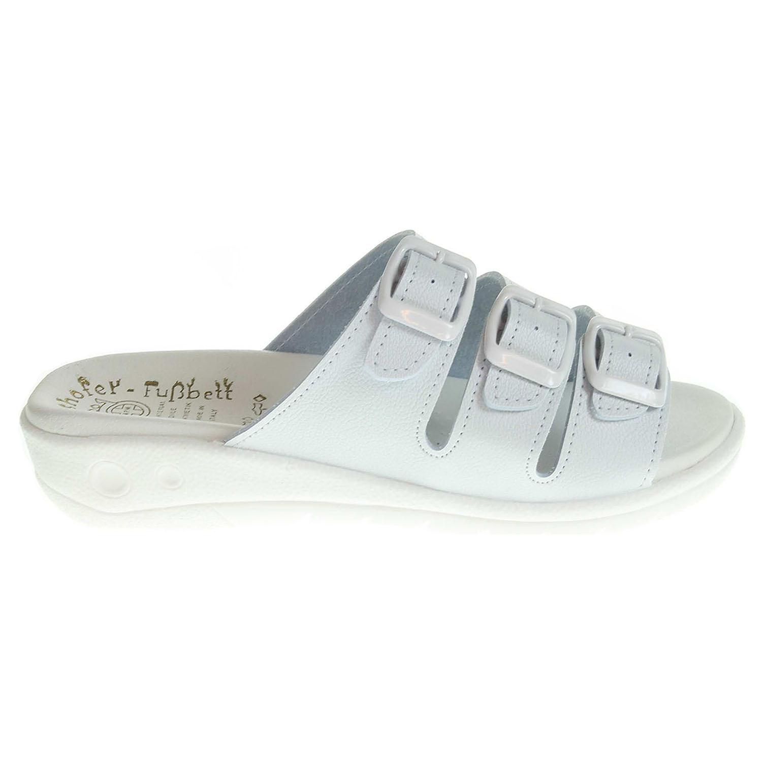 Ecco Dámské pantofle 5-20103 bílé 23400303