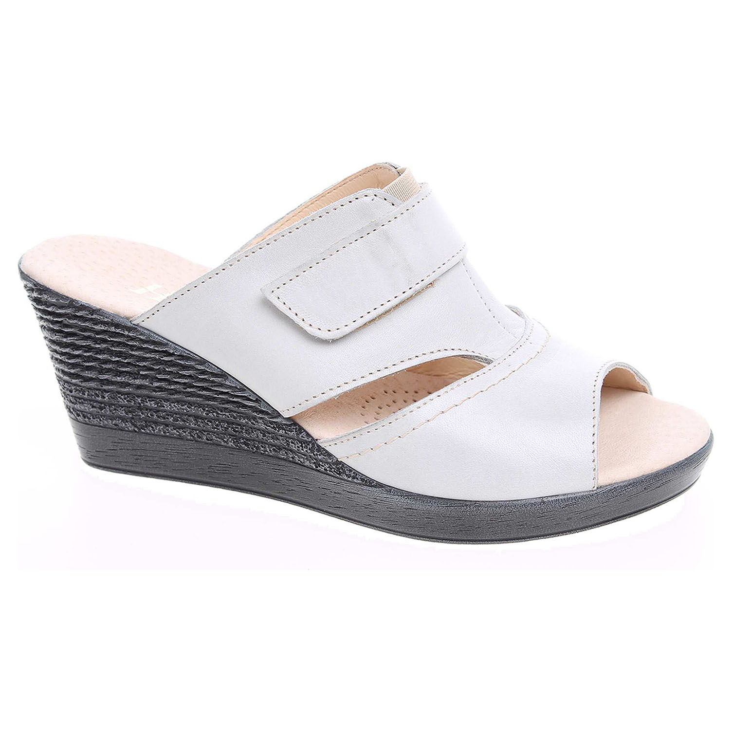 Ecco Dámské pantofle J 3436 šedé 23600738