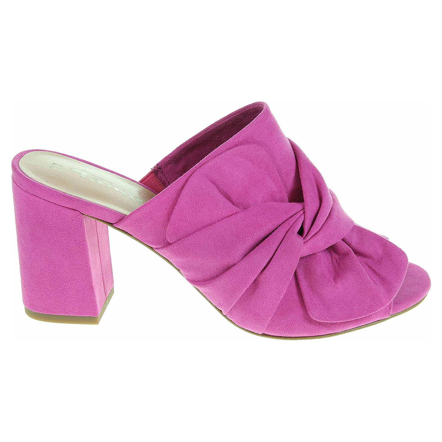 Ecco Tamaris dámské pantofle 1-27234-20 pink suede 23600820 9006bc279c
