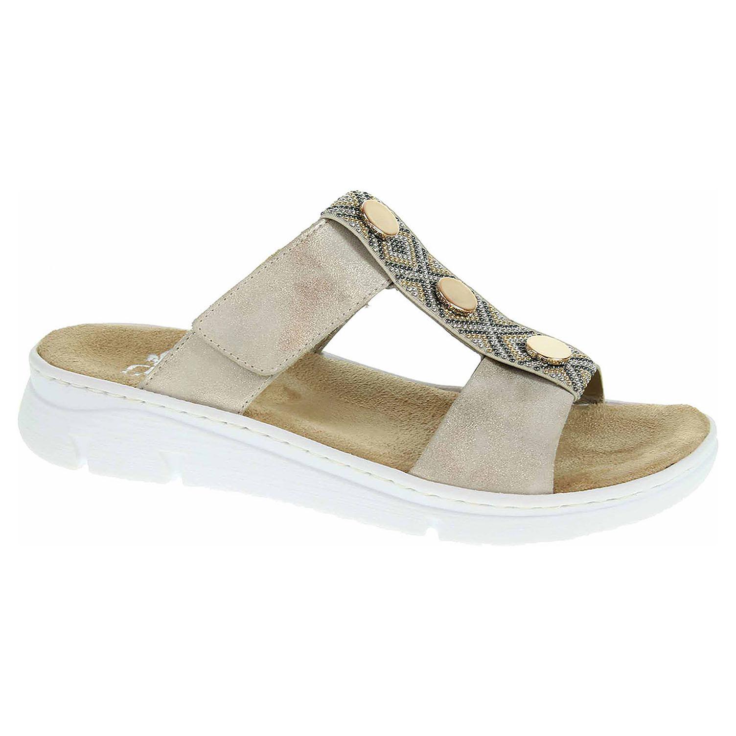 f5eec12c9d49 Ecco Dámské pantofle Rieker 65380-60 beige 23600893