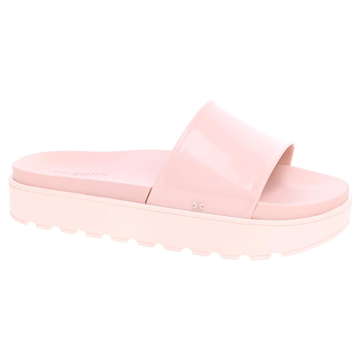 Ecco Plážové pantofle Zaxy 17362 90261 nude-white 23700358