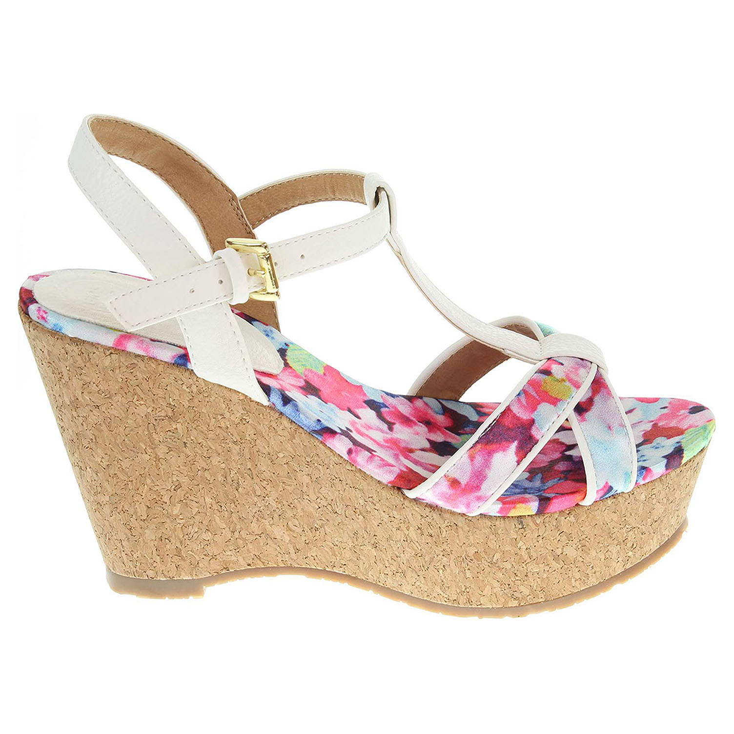 Gioseppo Vanilla white dámské sandály 41
