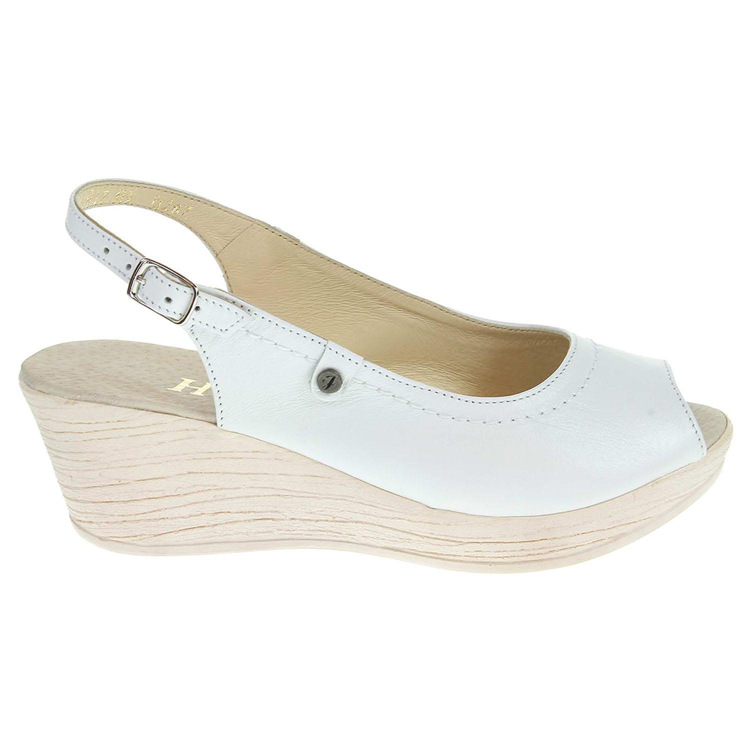 Dámské sandály J3497 bílé 36