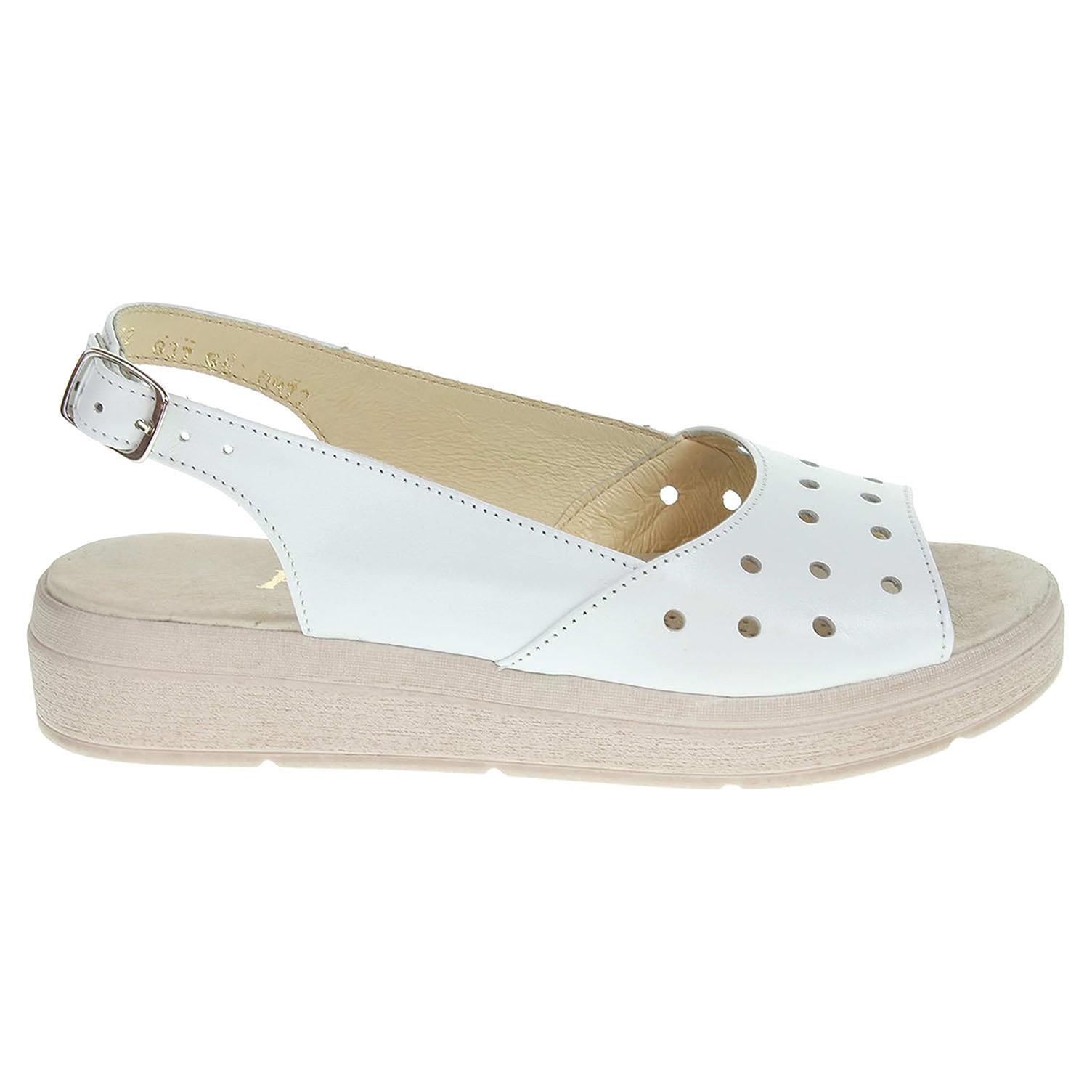 Dámské sandály J3472 bílé 37