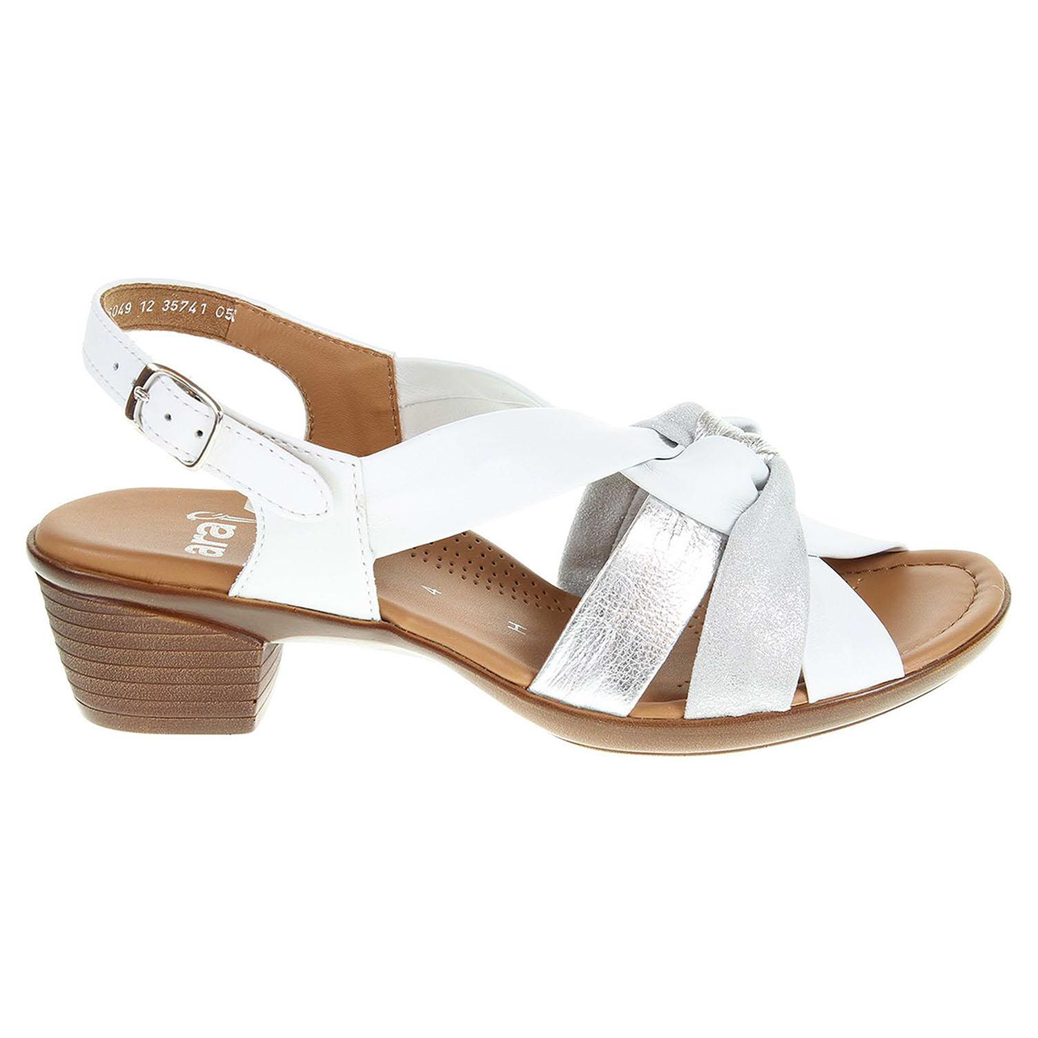 Ecco Ara dámské sandály 12-35741-05 weiss-silber 23801144