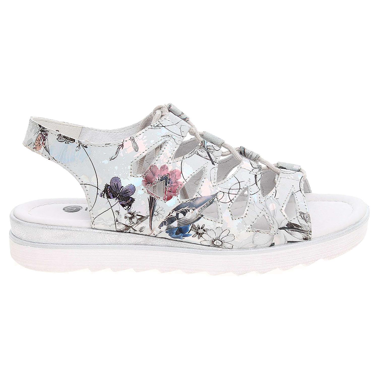 Ecco Remonte dámské sandály D1150-90 stříbrné 23801159