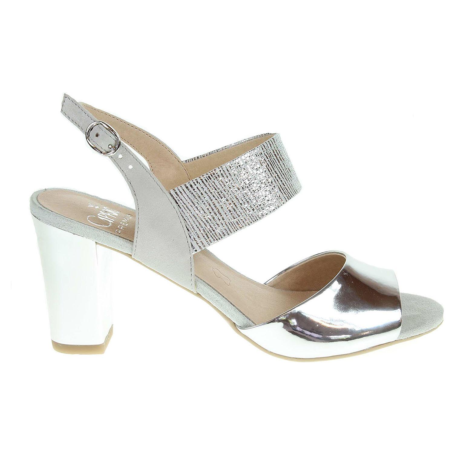 Ecco Caprice dámské sandály 9-28307-28 stříbrné 23801162