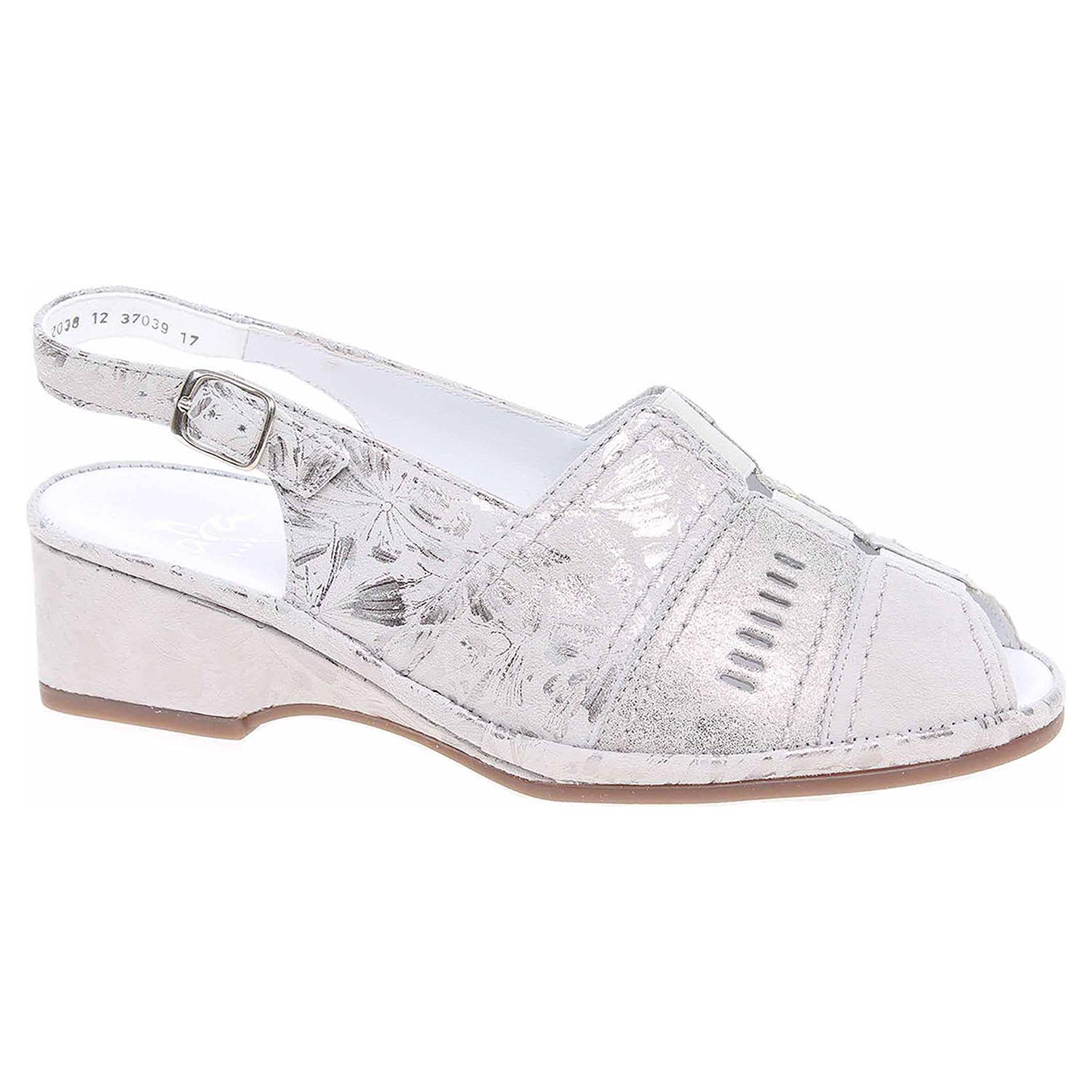 37039-17 sasso/zinn dámské sandály, gumičky na nártu
