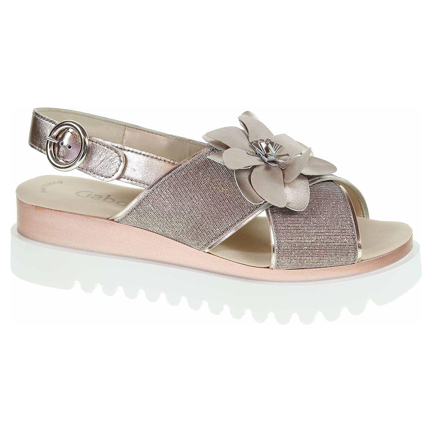 23.616.64 rosato/muschel módní dámské sandály, F šíře, kytička
