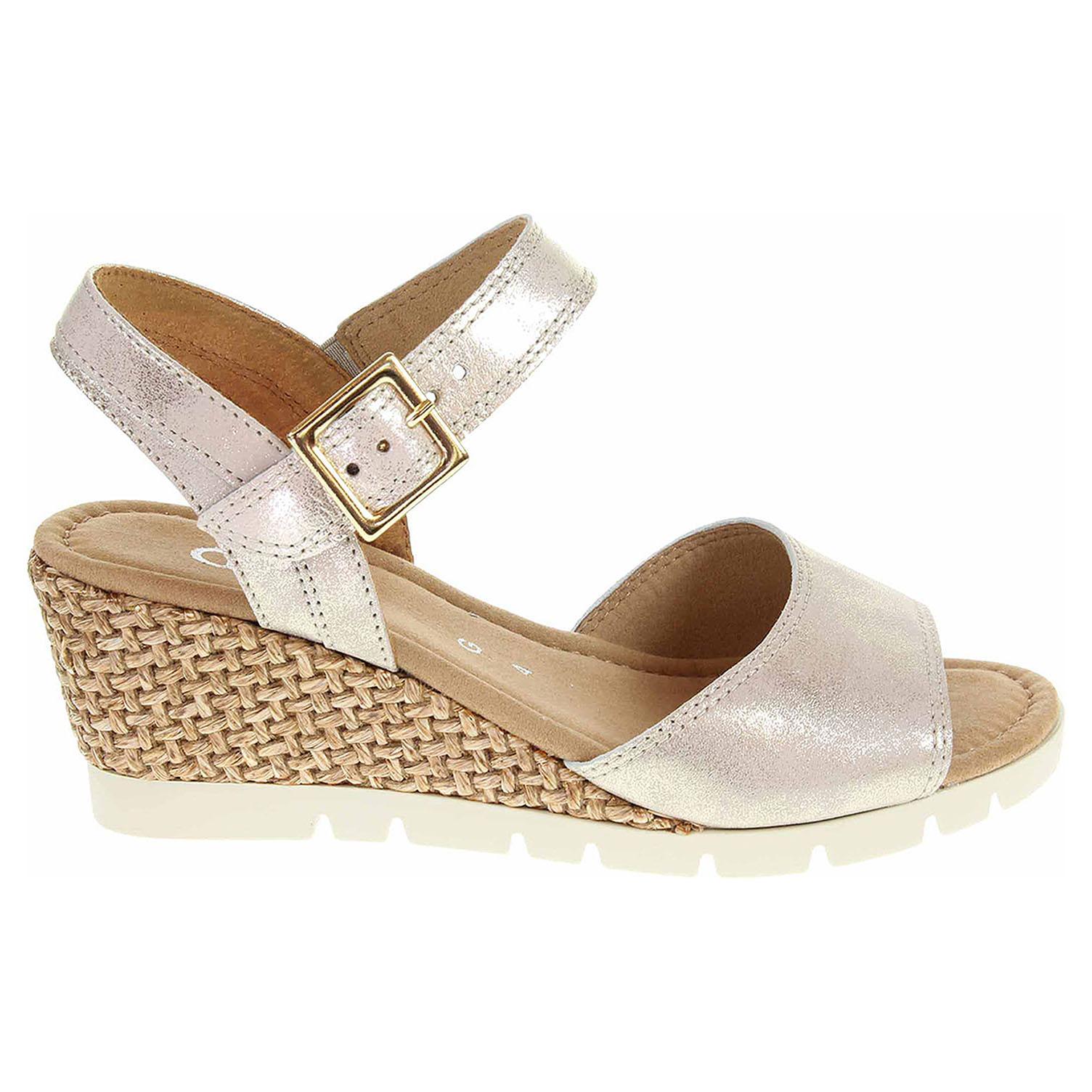 Ecco Gabor dámské sandály 82.842.63 platino 23801318