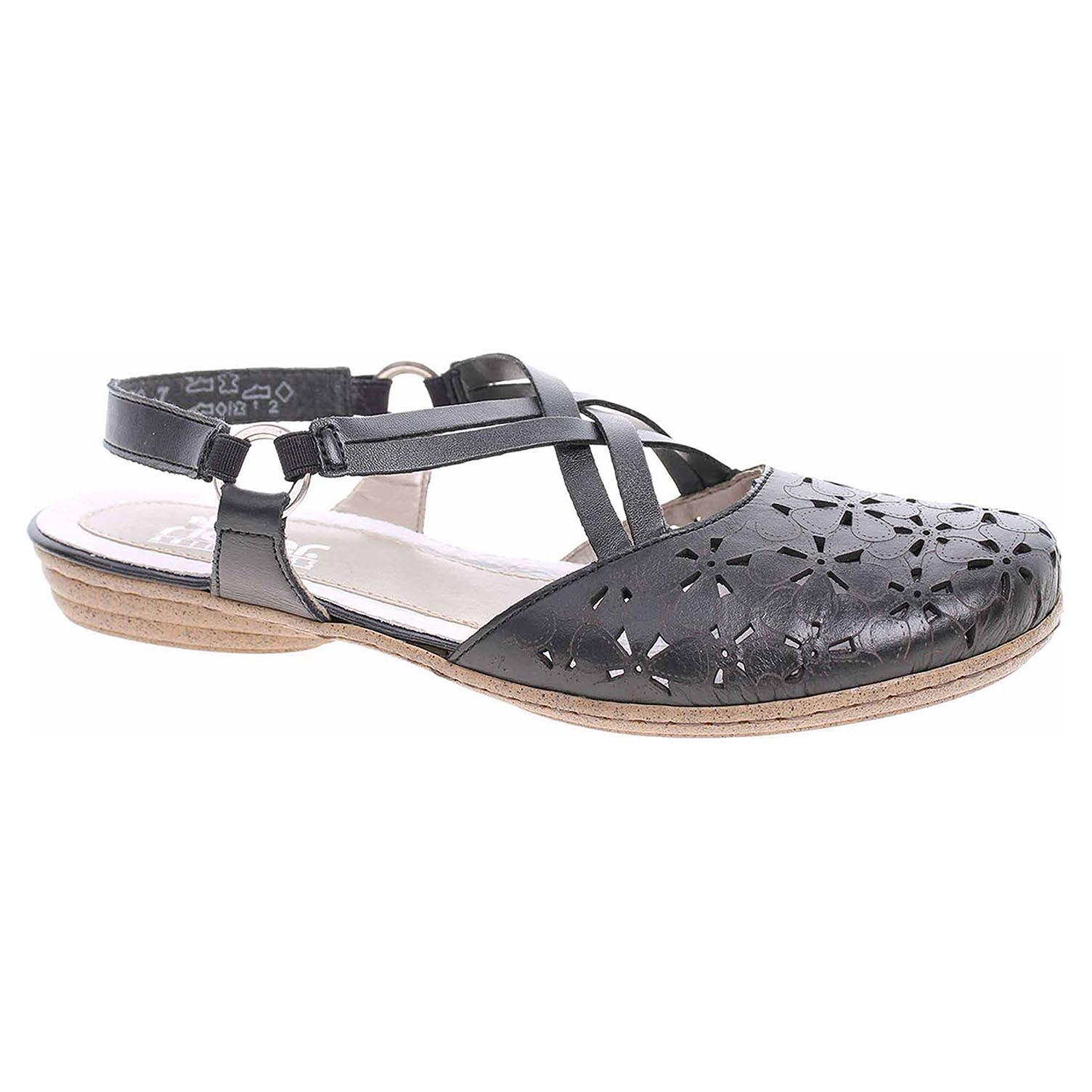 67a422ef243d Ecco Dámské sandály Rieker 53996-00 schwarz 23801420
