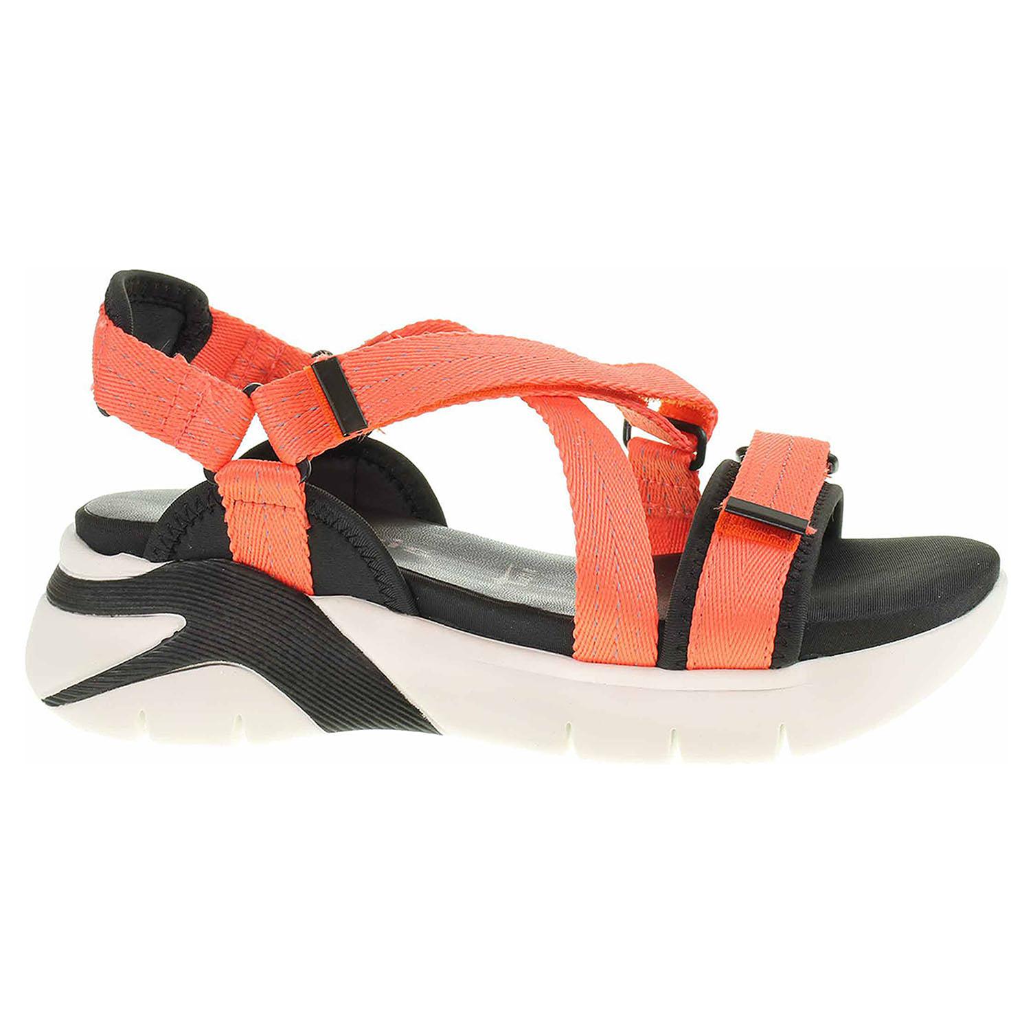 Levně Dámské sandály Tamaris 1-28709-34 peach neon 37