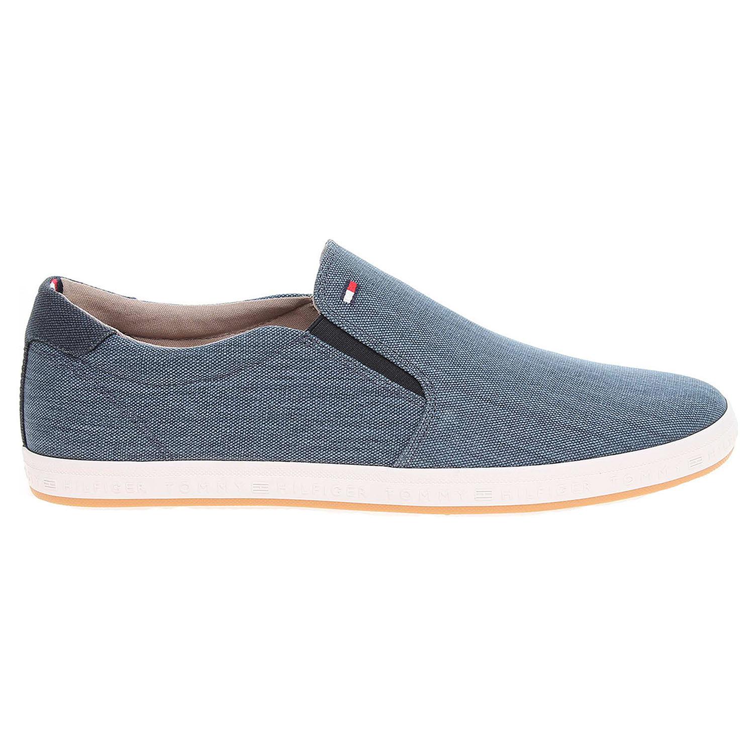 Ecco Tommy Hilfiger pánská obuv FM0FM00409 H2285OWELL jeans 24000455 74833220ec6