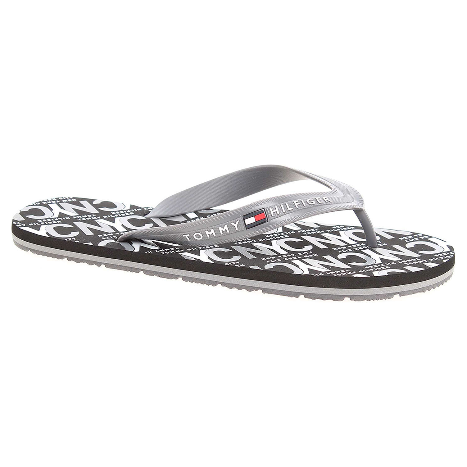 Ecco Pánské plážové pantofle Tommy Hilfiger FM0FM01361 steel grey 24500169