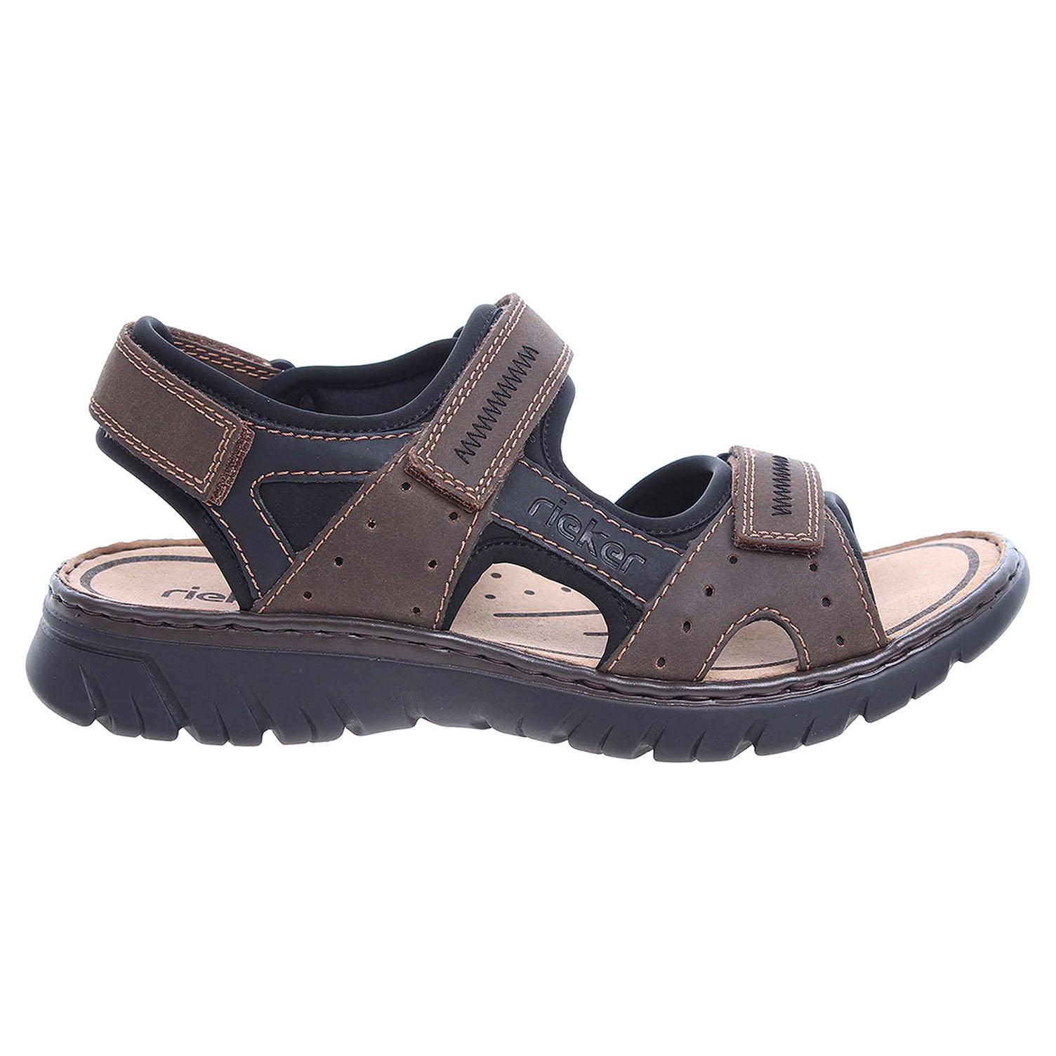 f03e4317358 Ecco Rieker pánské sandály 26757-25 hnědé 24700207