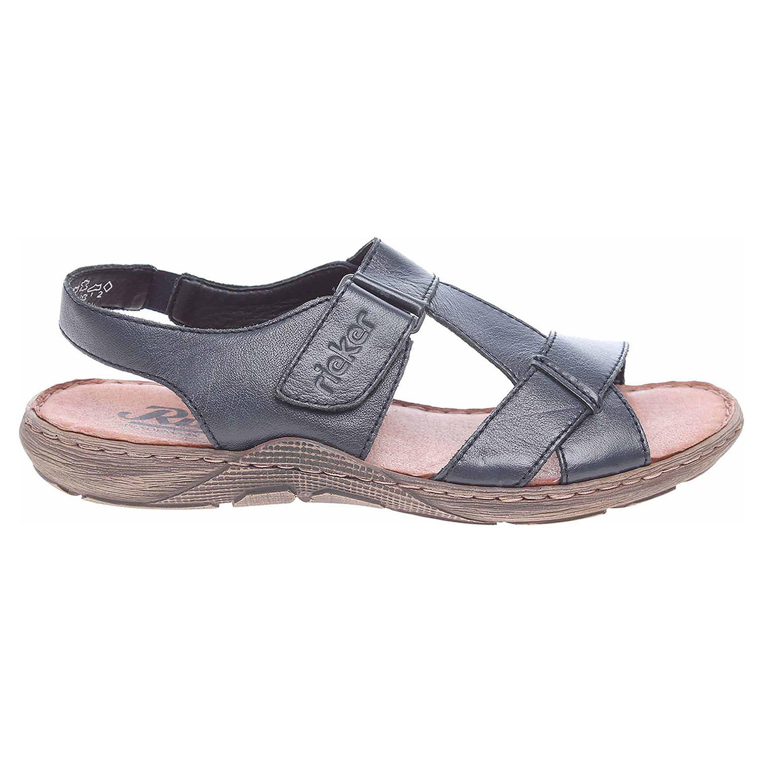 Ecco Rieker pánské sandály 22053-14 blau 24700261 5a19213069