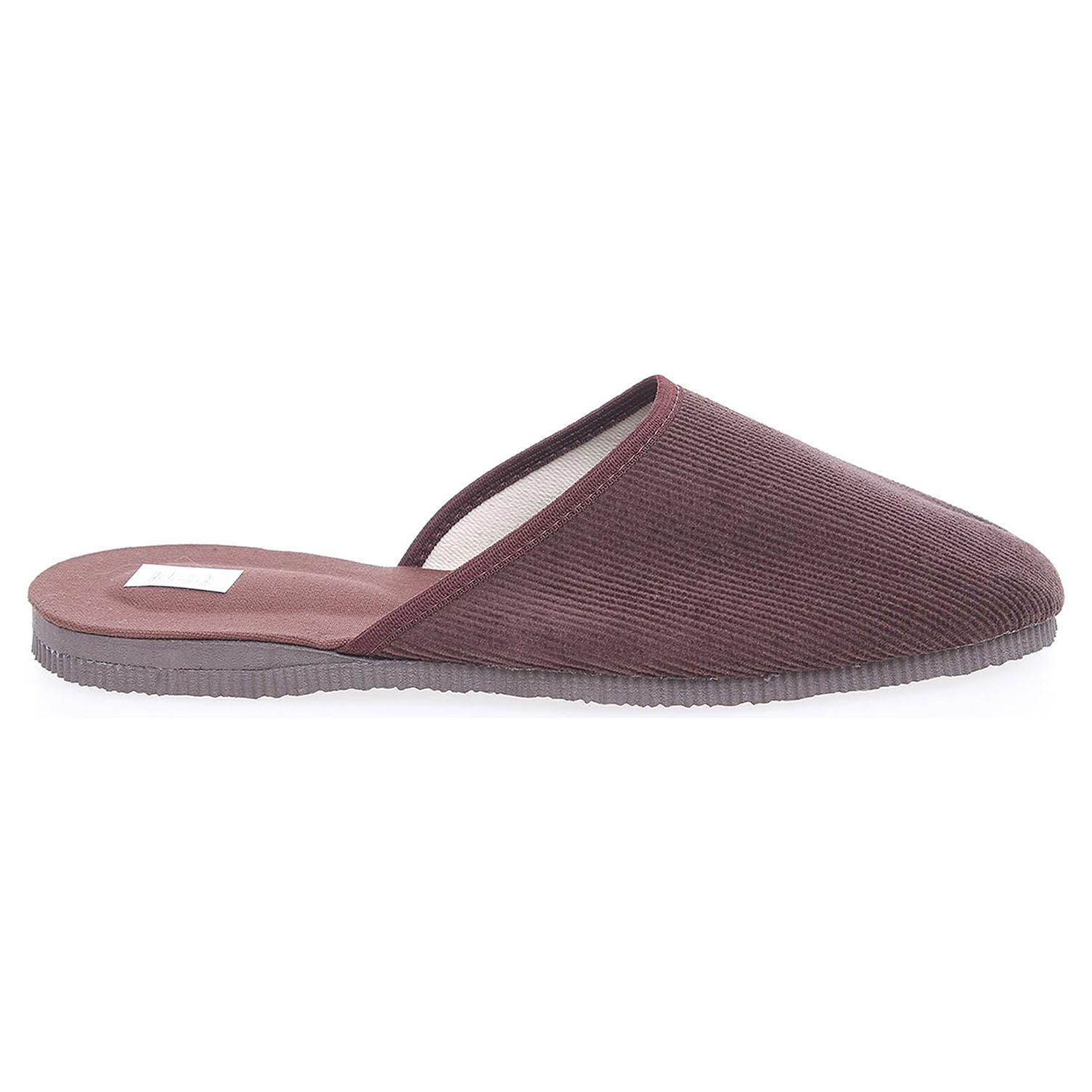 Pánské domácí pantofle 1009.00 hnědé 45
