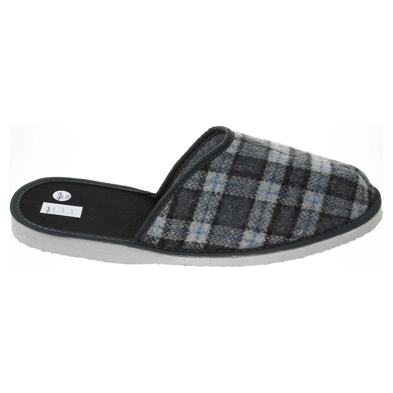 Pánské domácí pantofle 1011.00 šedá 41