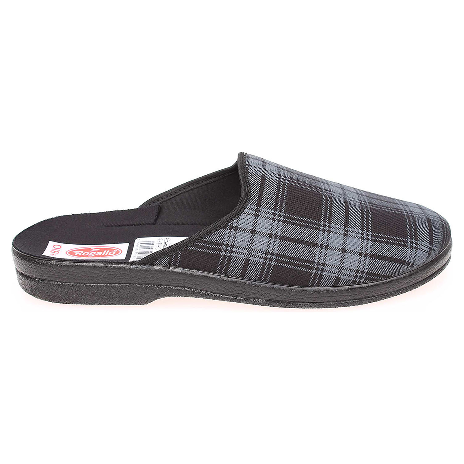 Rogallo pánské domácí pantofle 18902 černá-šedá 41