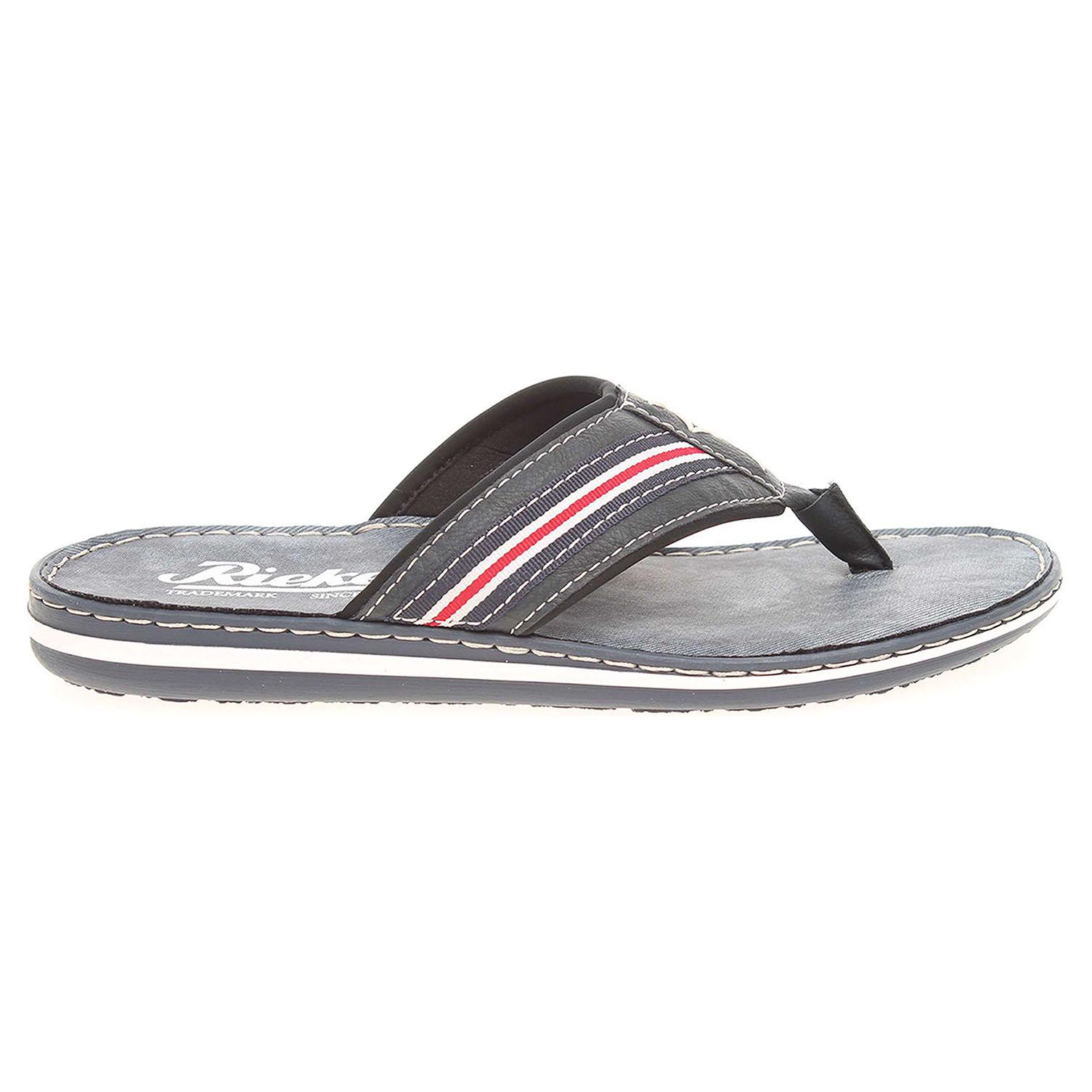 Ecco Rieker pánské pantofle 21081-14 modré 24900142 bdddf52565
