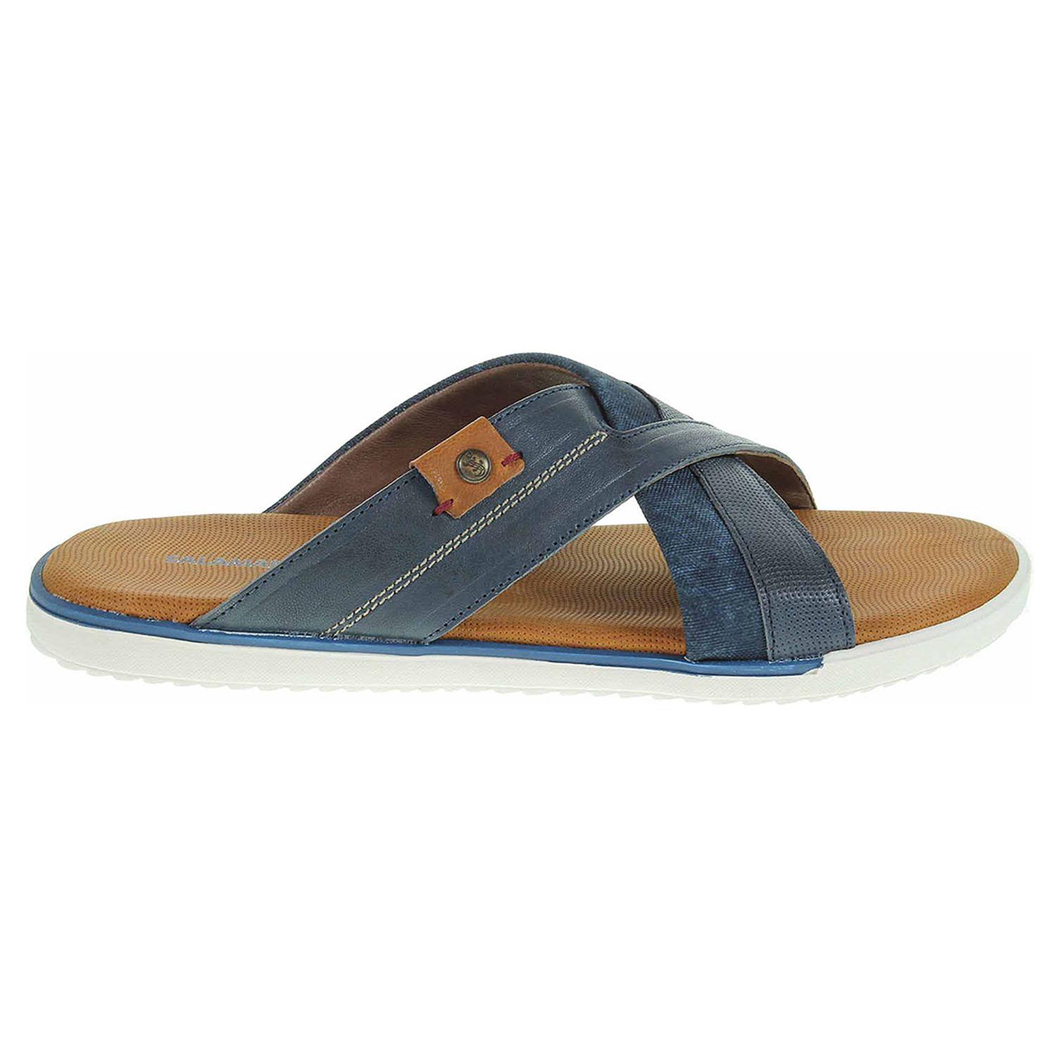 d950756e99f0 Ecco Salamander pánské pantofle 31-75005-42 navy 24900167