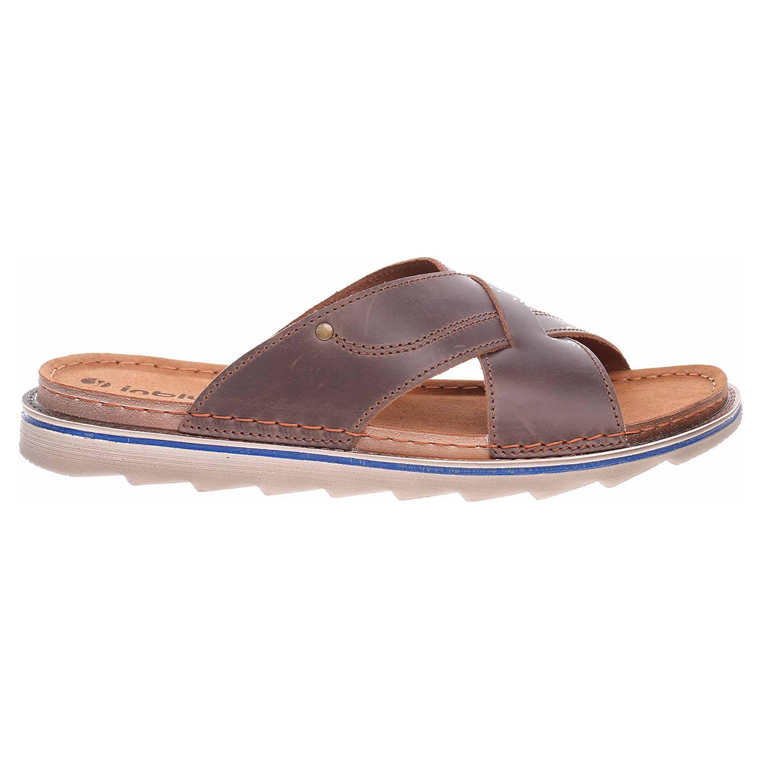 Levně Pánské pantofle Inblu 158M008 hnědá 41
