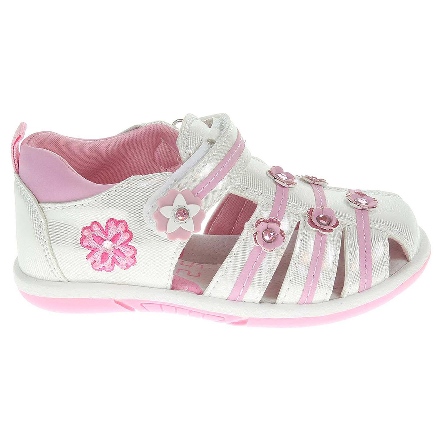 Dívčí sandály 105022 bílé 20