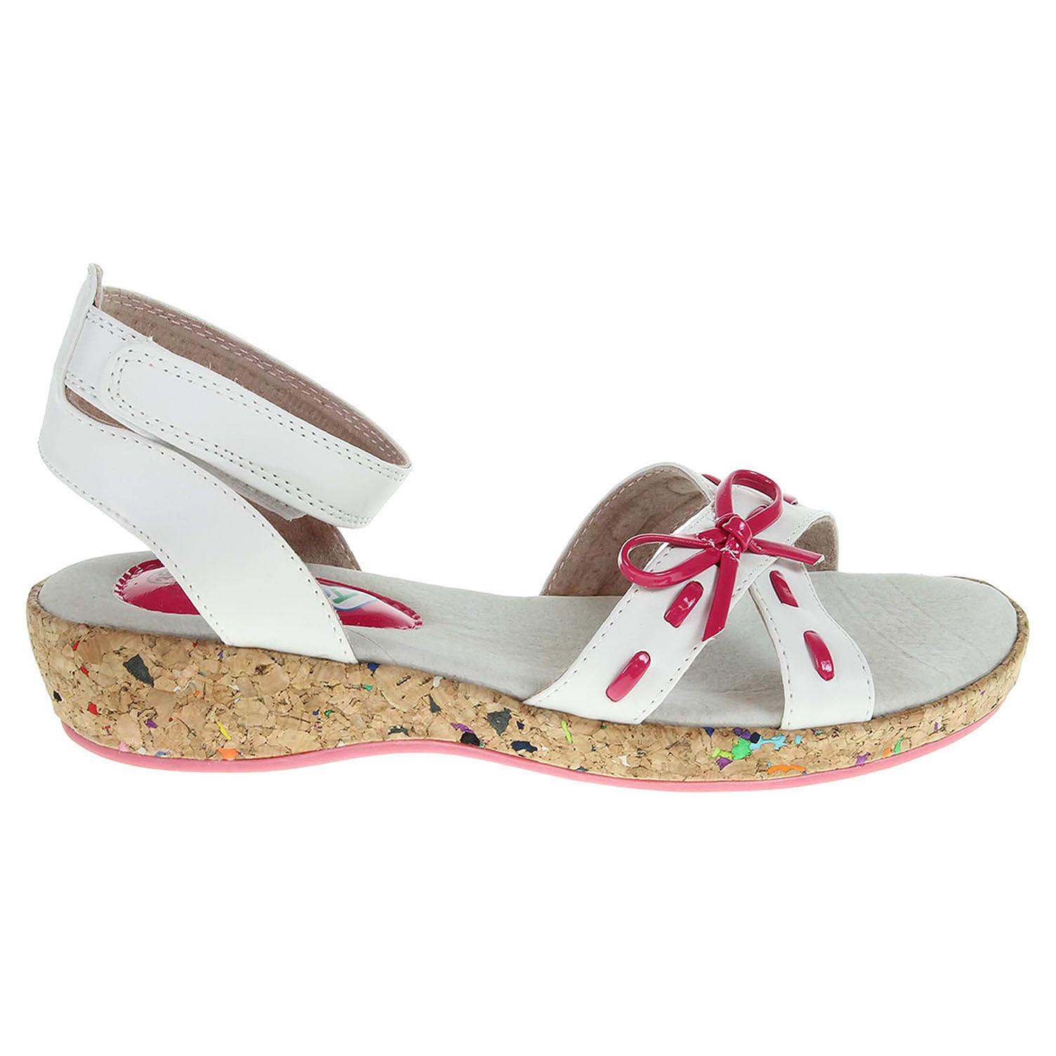 Ecco Peddy dívčí sandály PU-518-33-06 bílá-růžová 26100109 d20f911480e