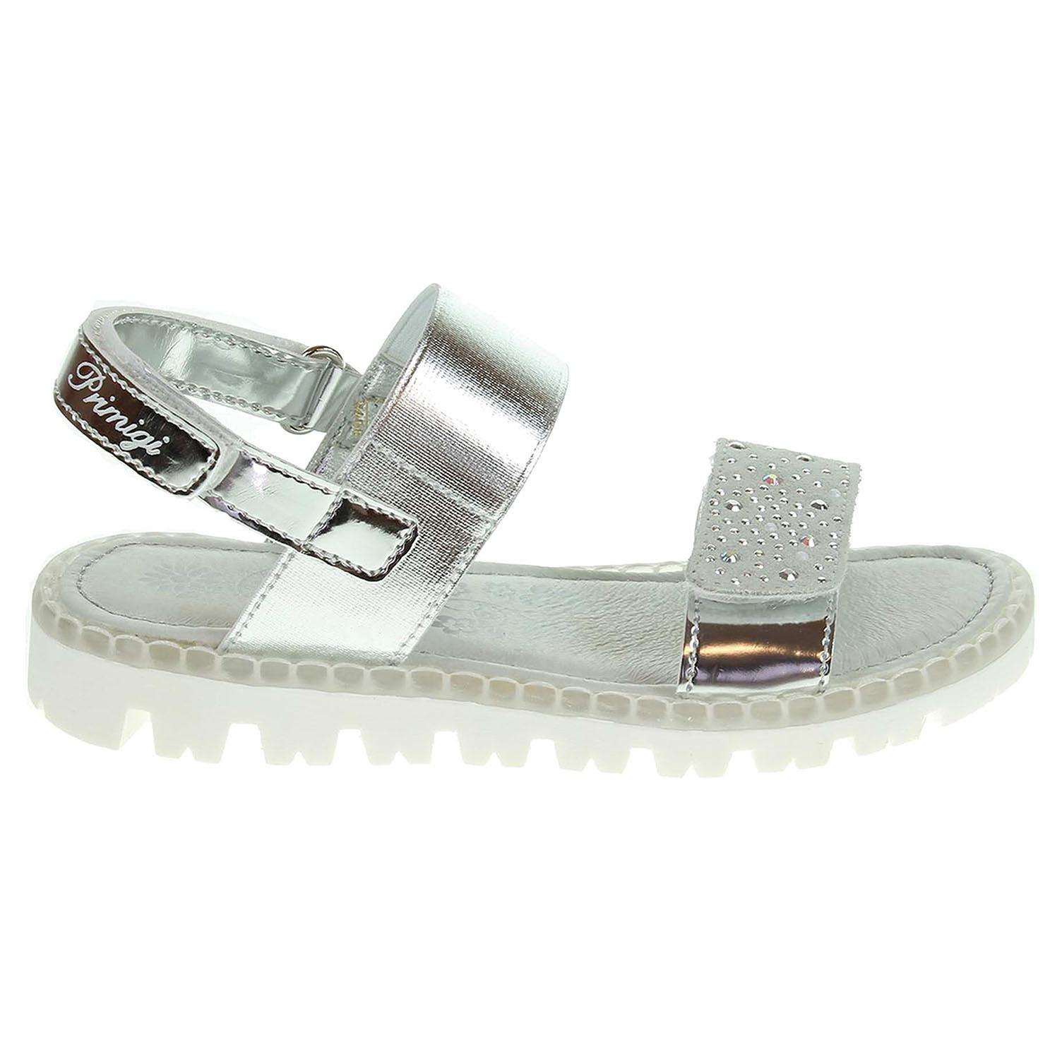 Ecco Primigi dívčí sandály 7103100 stříbrné 26100119