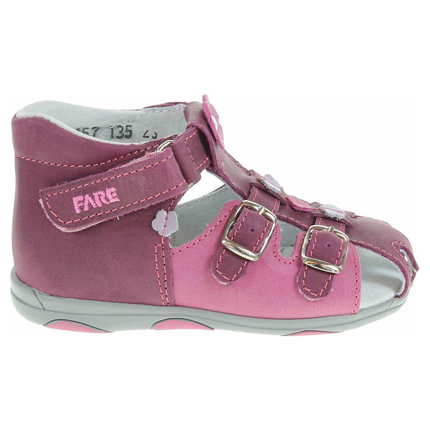 Ecco Fare dívčí sandály 568157 vínová-růžová 26100122