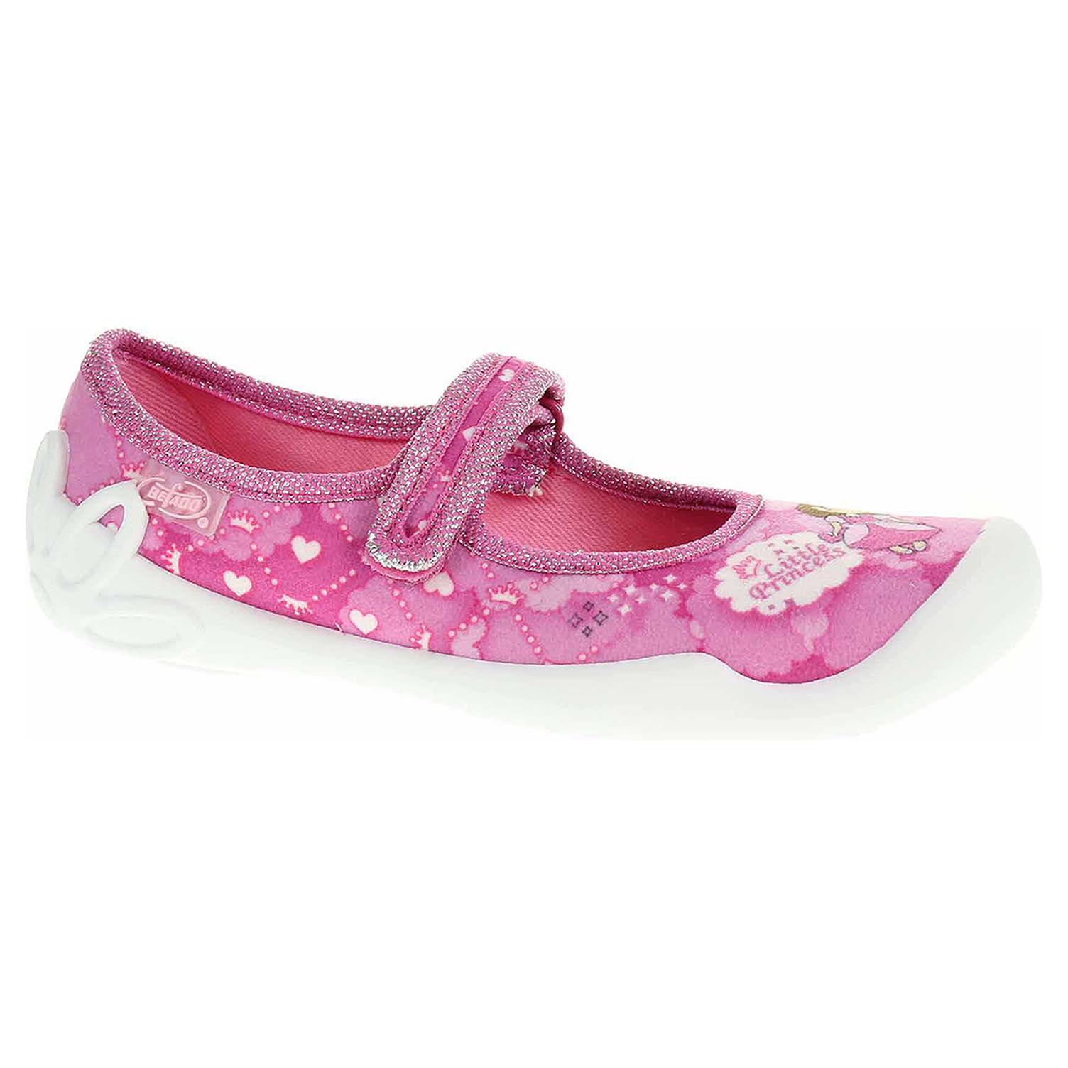 114X306 růžová dívčí bačkory, s.zip, princezna Befado