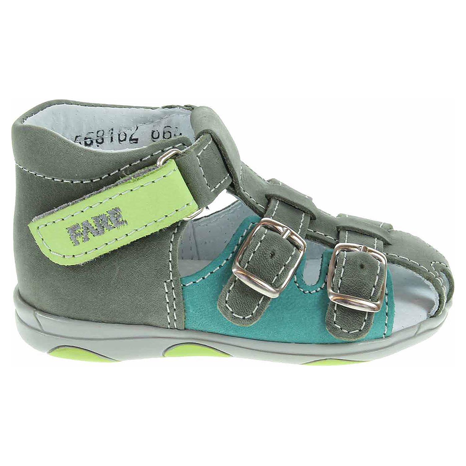 Ecco Fare chlapecké sandály 568162 šedá-zelená 29300082