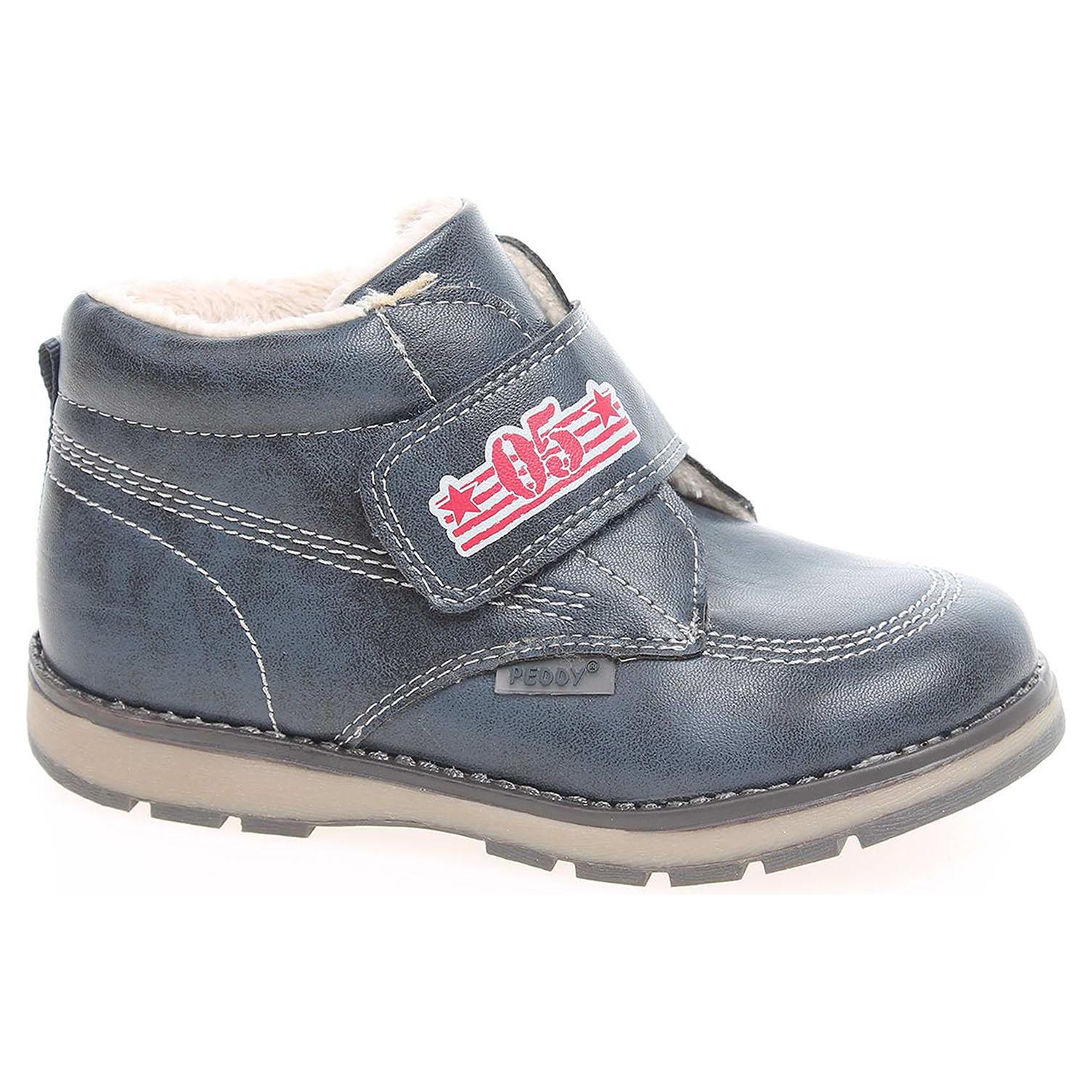 0fa29fd5403a5 Ecco Chlapecká kotníková obuv Peddy PT-636-37-17 modré 29400070