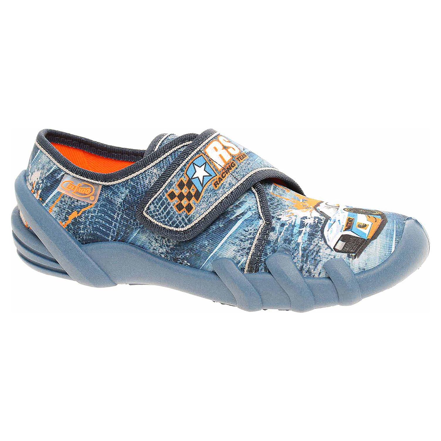 273X252 modrá chlapecké bačkory, s.zip Befado