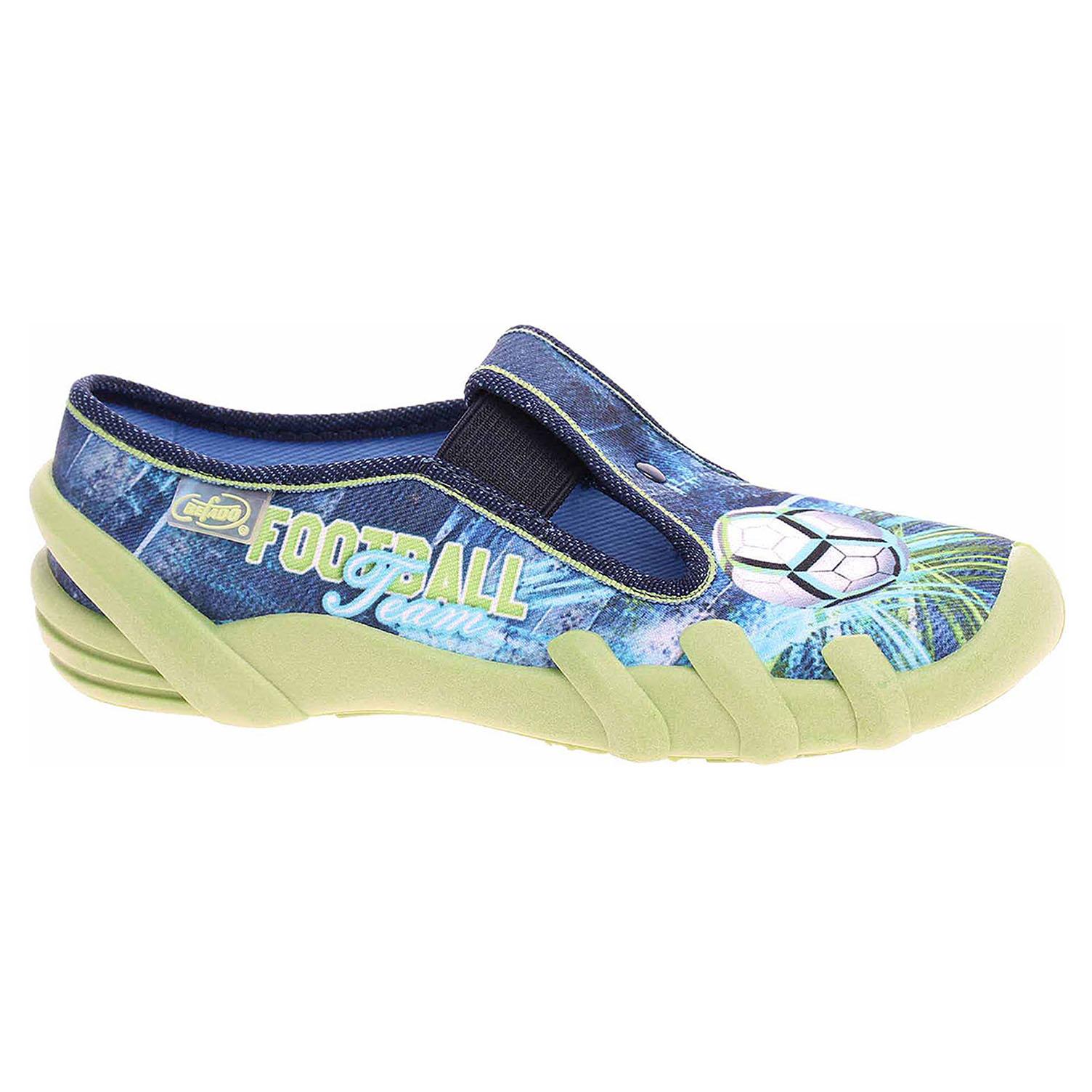 290X187 modrá chlapecké bačkory, gumička Befado