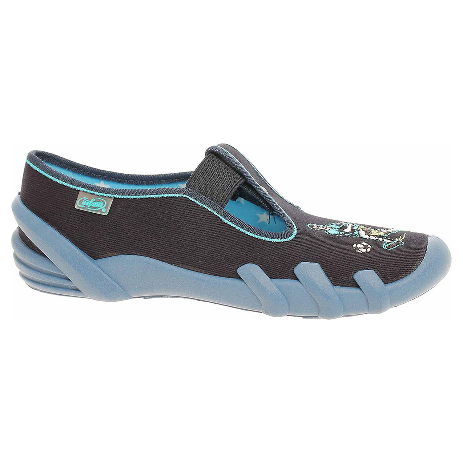 290Y175 modrá chlapecké bačkory, gumička Befado