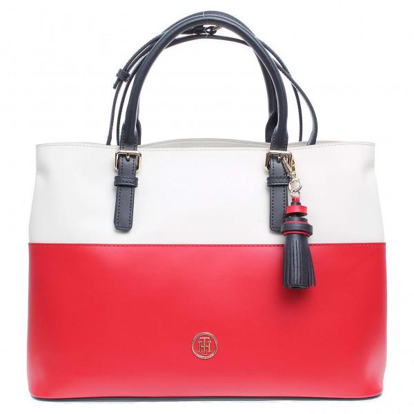 detail Tommy Hilfiger dámská kabelka AW0AW04047 červená-bílá a9bf803ffc