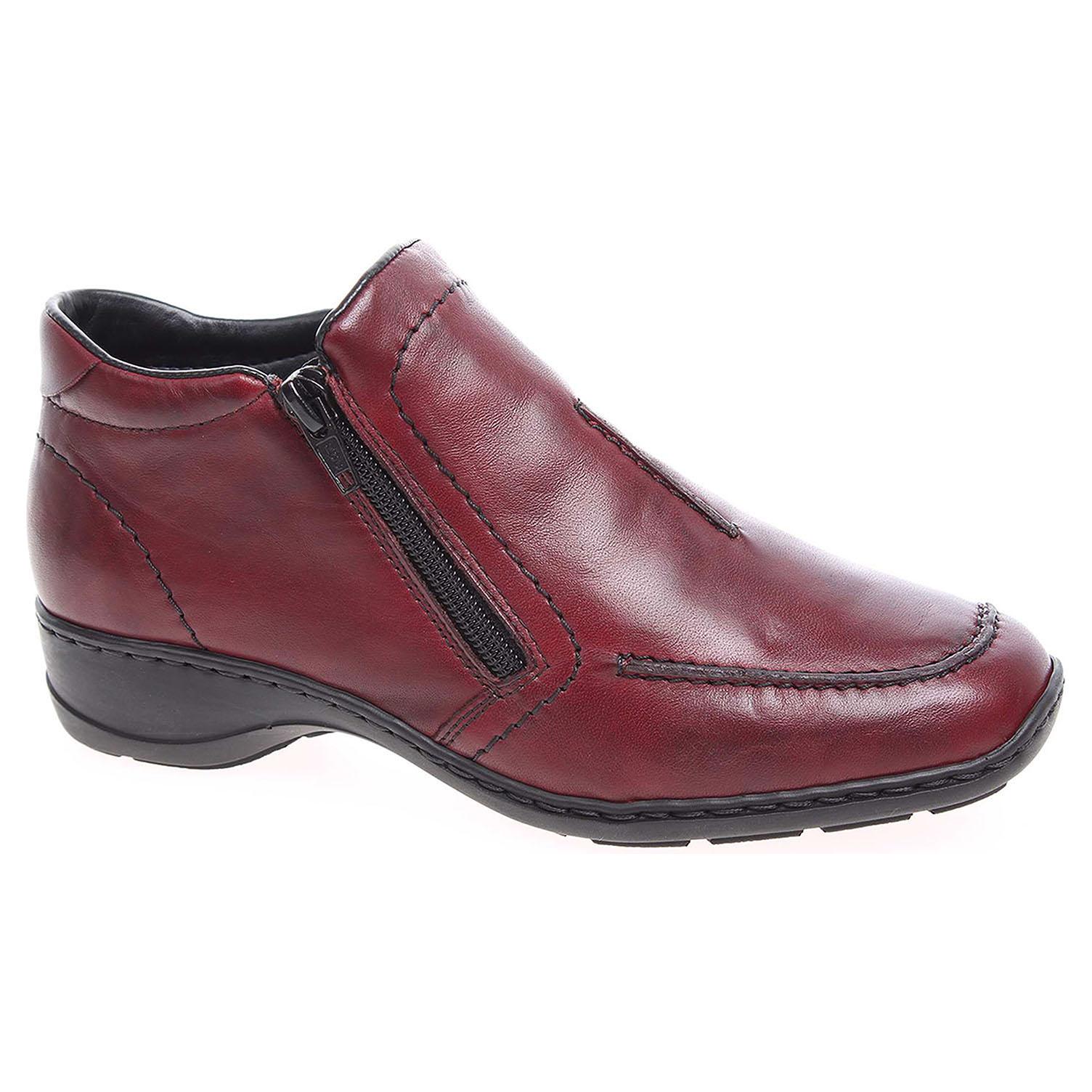 f5034a101556 detail Dámská obuv Rieker 58386-35 rot