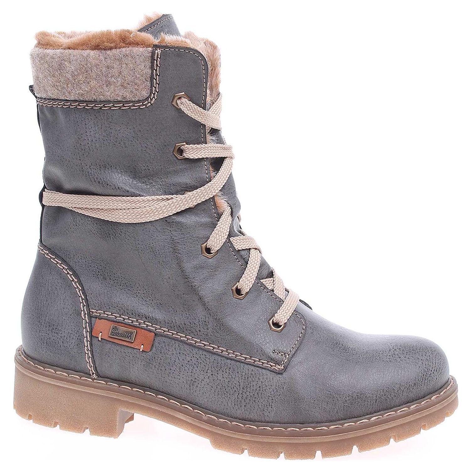 a67c3826a9b8 detail Dámská kotníková obuv Rieker Y9122-45 grau kombi