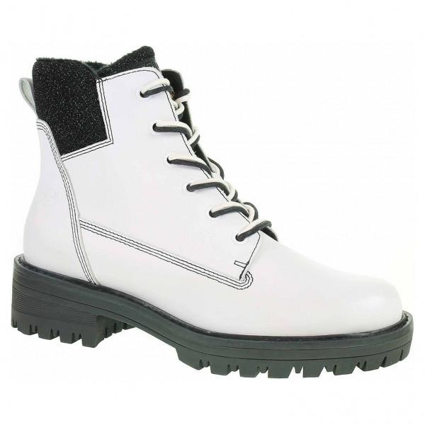 7014280420 detail Dámská kotníková obuv Tamaris 1-25214-21 white-black