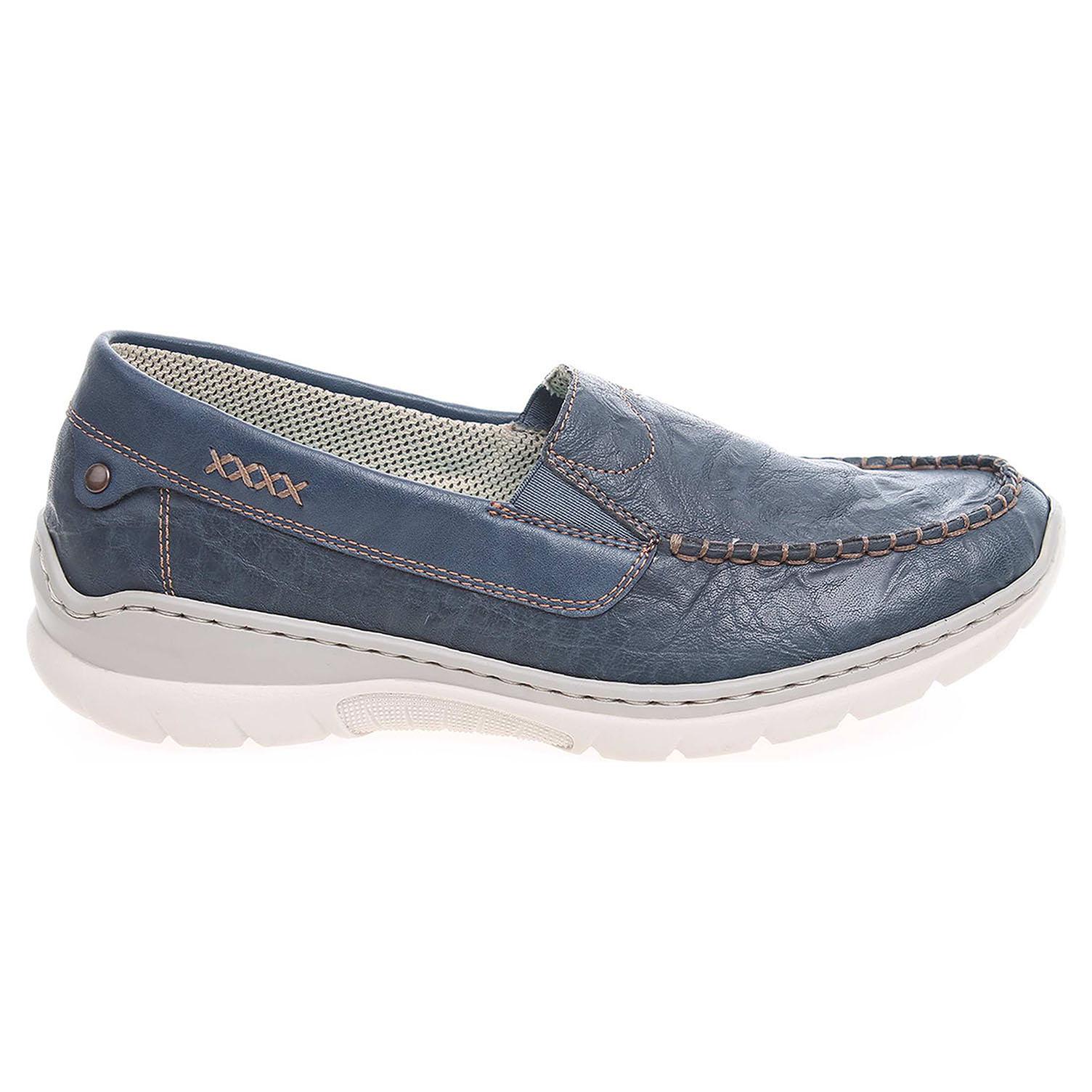 bfec4f7da0bdd Rieker dámské mokasiny L3270-14 modré | Rejnok obuv